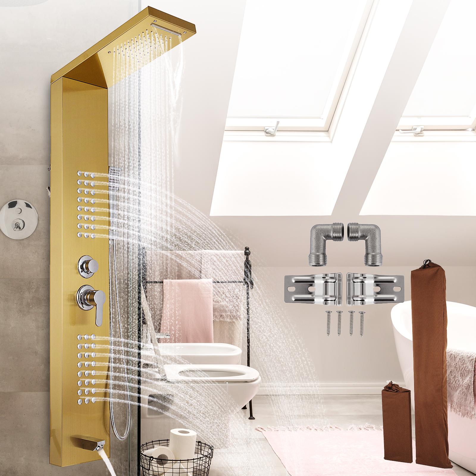 Pannello-doccia-idromassaggio-colonna-in-acciaio-inossidabile-con-miscelatore miniatura 96