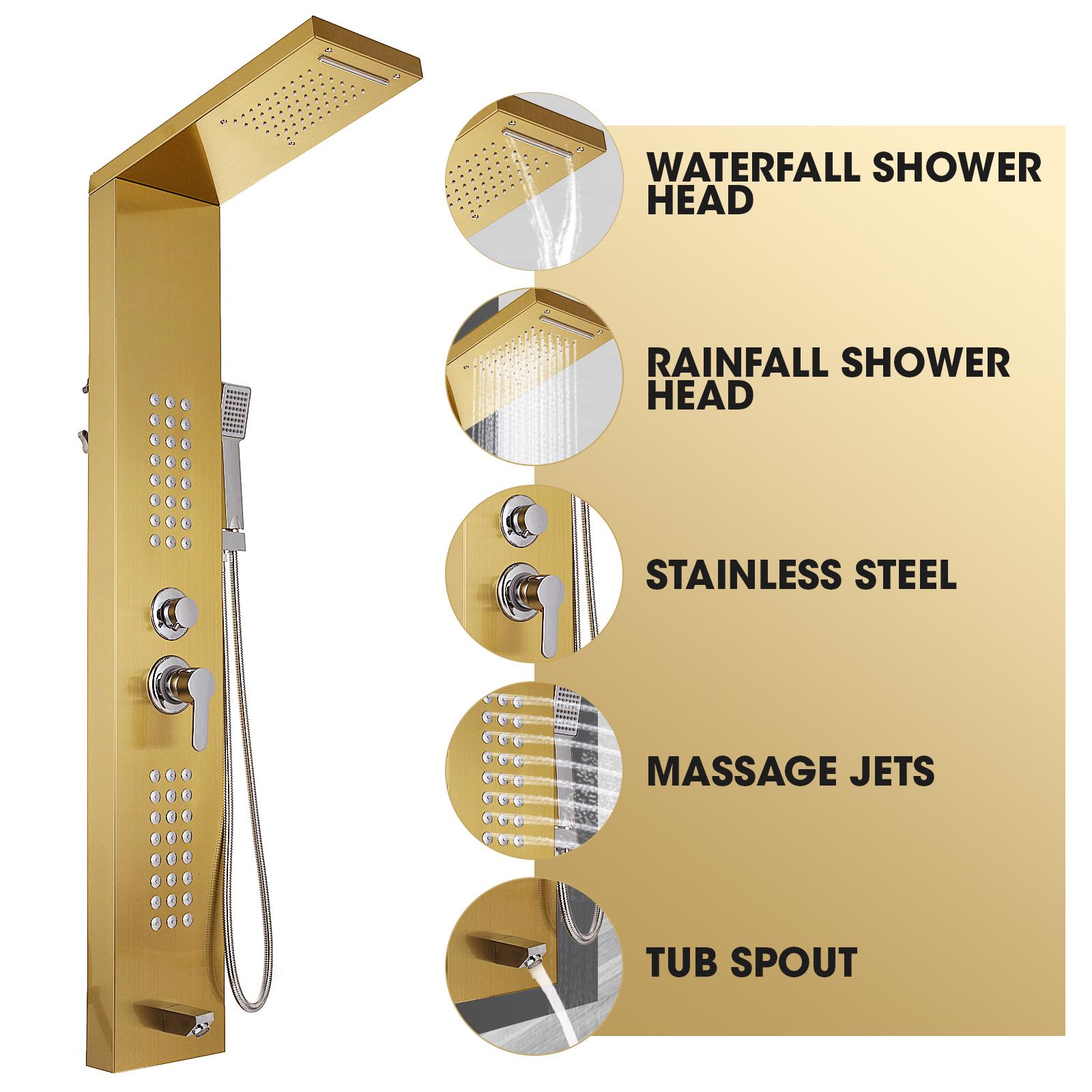 Pannello-doccia-idromassaggio-colonna-in-acciaio-inossidabile-con-miscelatore miniatura 90