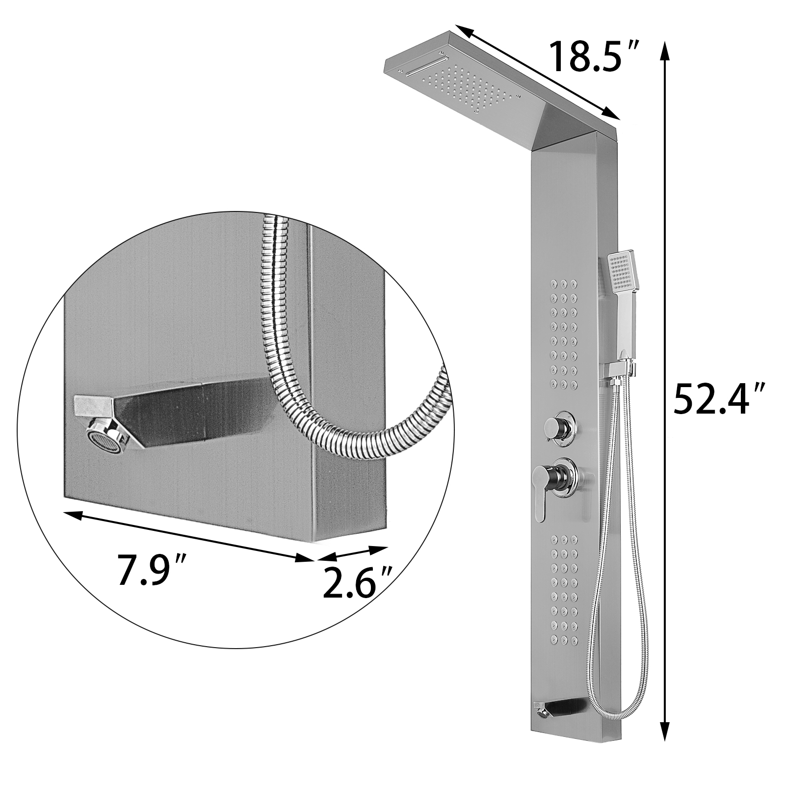 Pannello-doccia-idromassaggio-colonna-in-acciaio-inossidabile-con-miscelatore miniatura 62