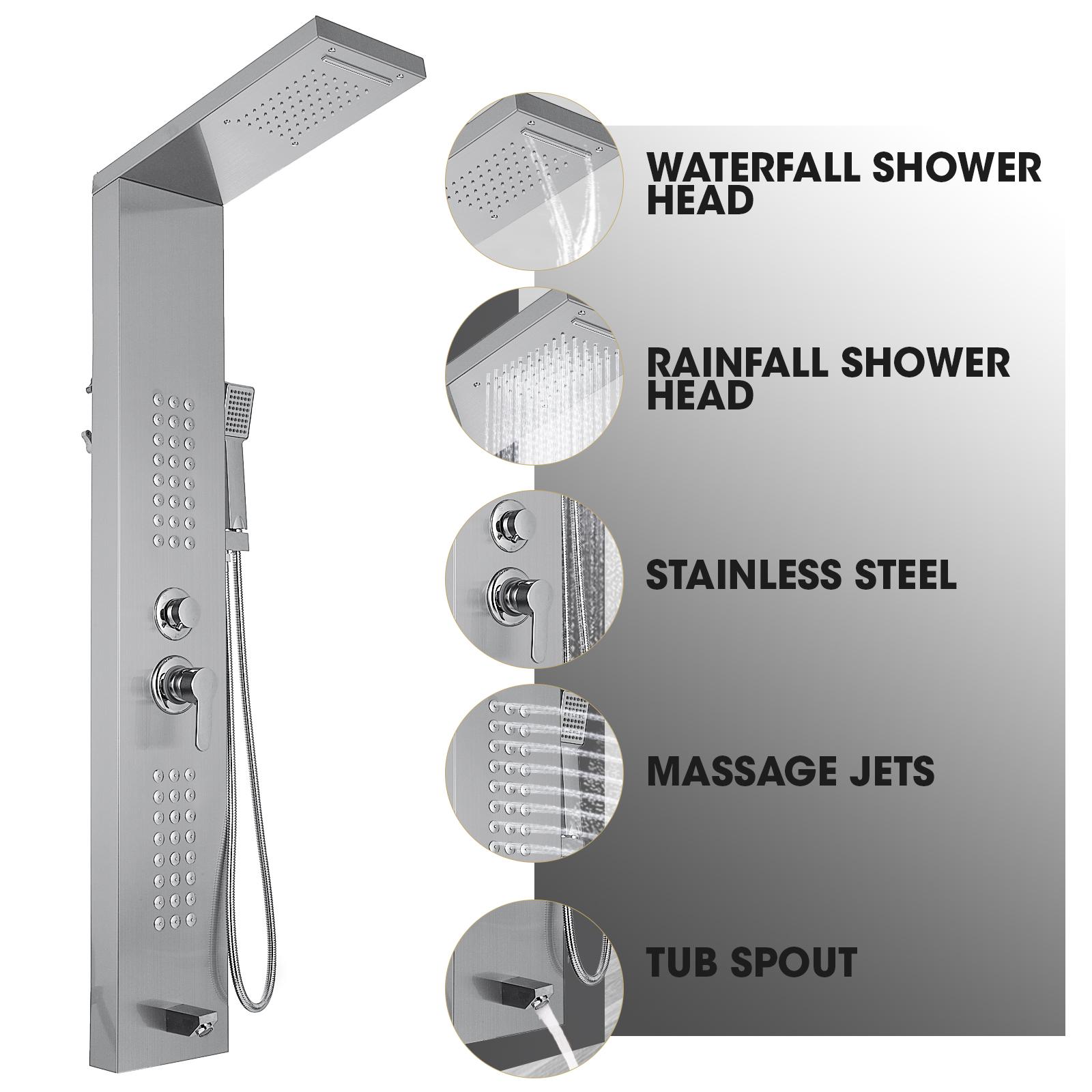 Pannello-doccia-idromassaggio-colonna-in-acciaio-inossidabile-con-miscelatore miniatura 66