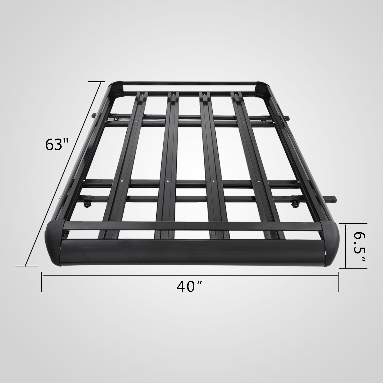 Large Black Universal Aluminum Roof Rack Basket 160cm