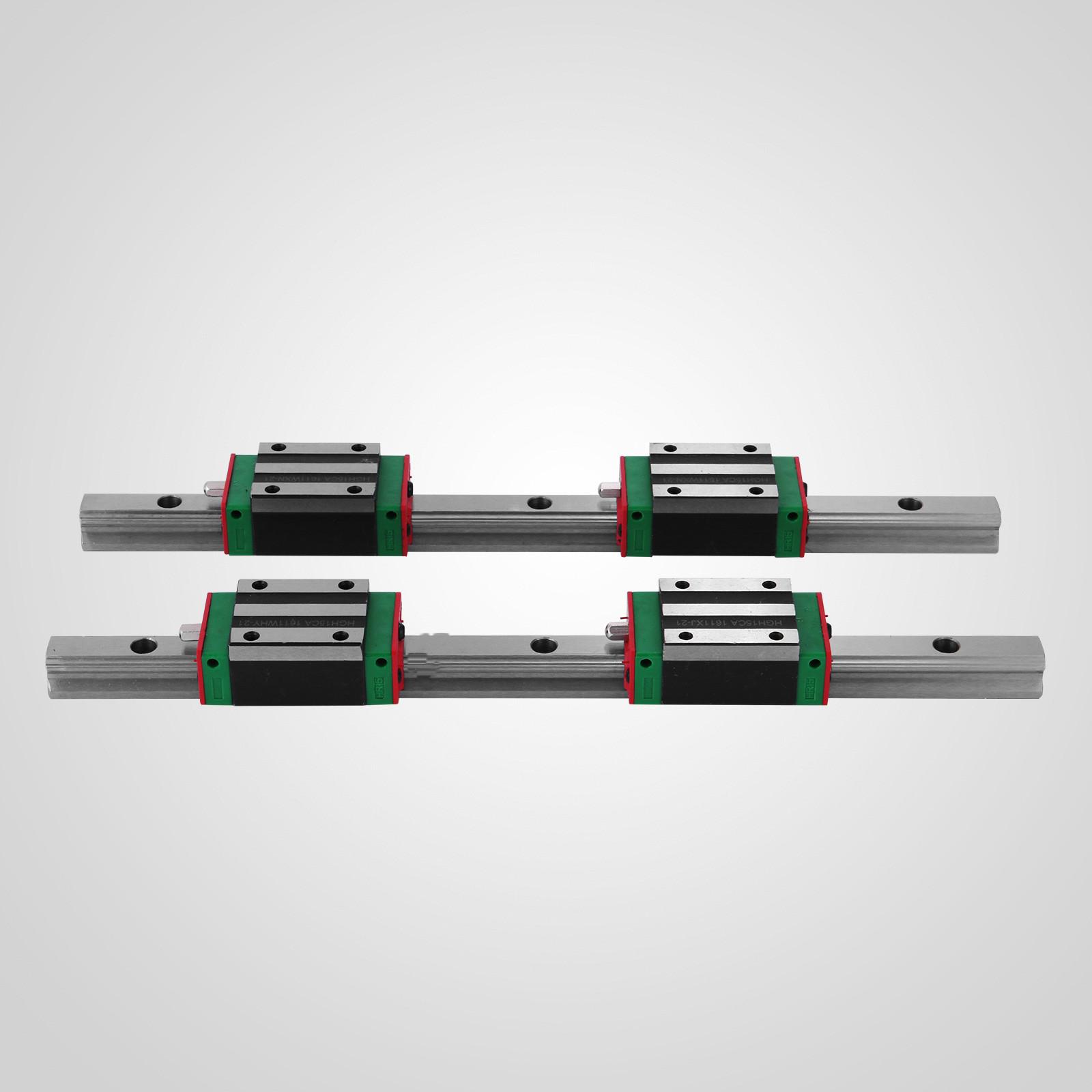 CNC Set 20-1000mm 2x Linear Guideway Rail 4x Square type carriage bearing block