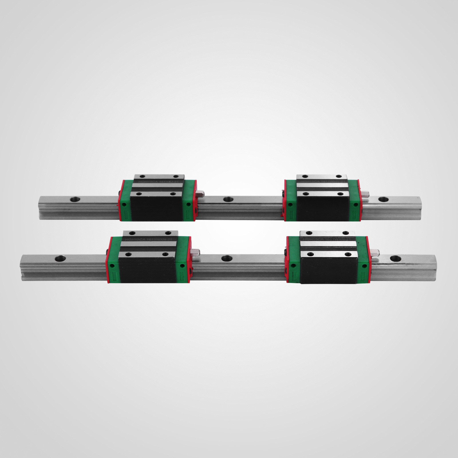 CNC Set 15-650mm 2x Linear Guideway Rail 4x Square type carriage bearing block