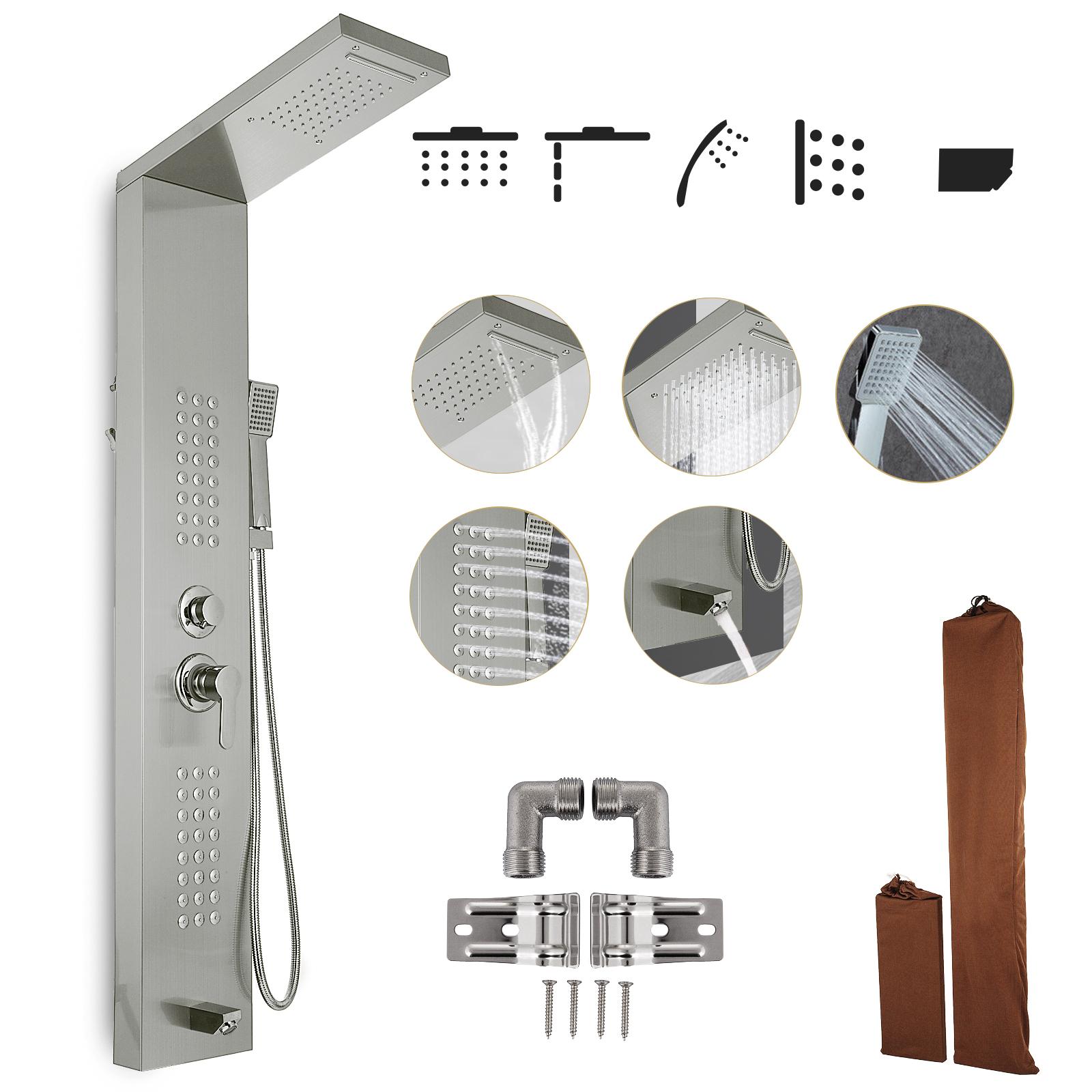 Pannello-doccia-idromassaggio-colonna-in-acciaio-inossidabile-con-miscelatore miniatura 84