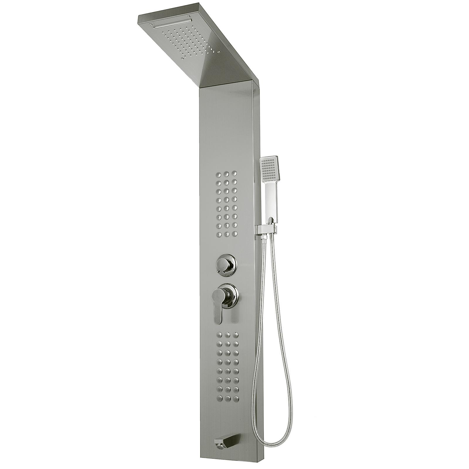 Pannello-doccia-idromassaggio-colonna-in-acciaio-inossidabile-con-miscelatore miniatura 75