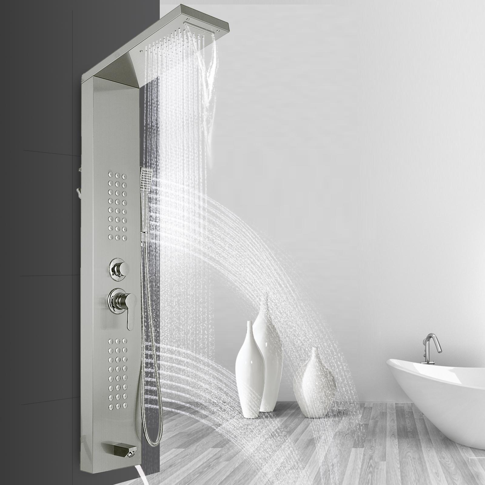 Pannello-doccia-idromassaggio-colonna-in-acciaio-inossidabile-con-miscelatore miniatura 78