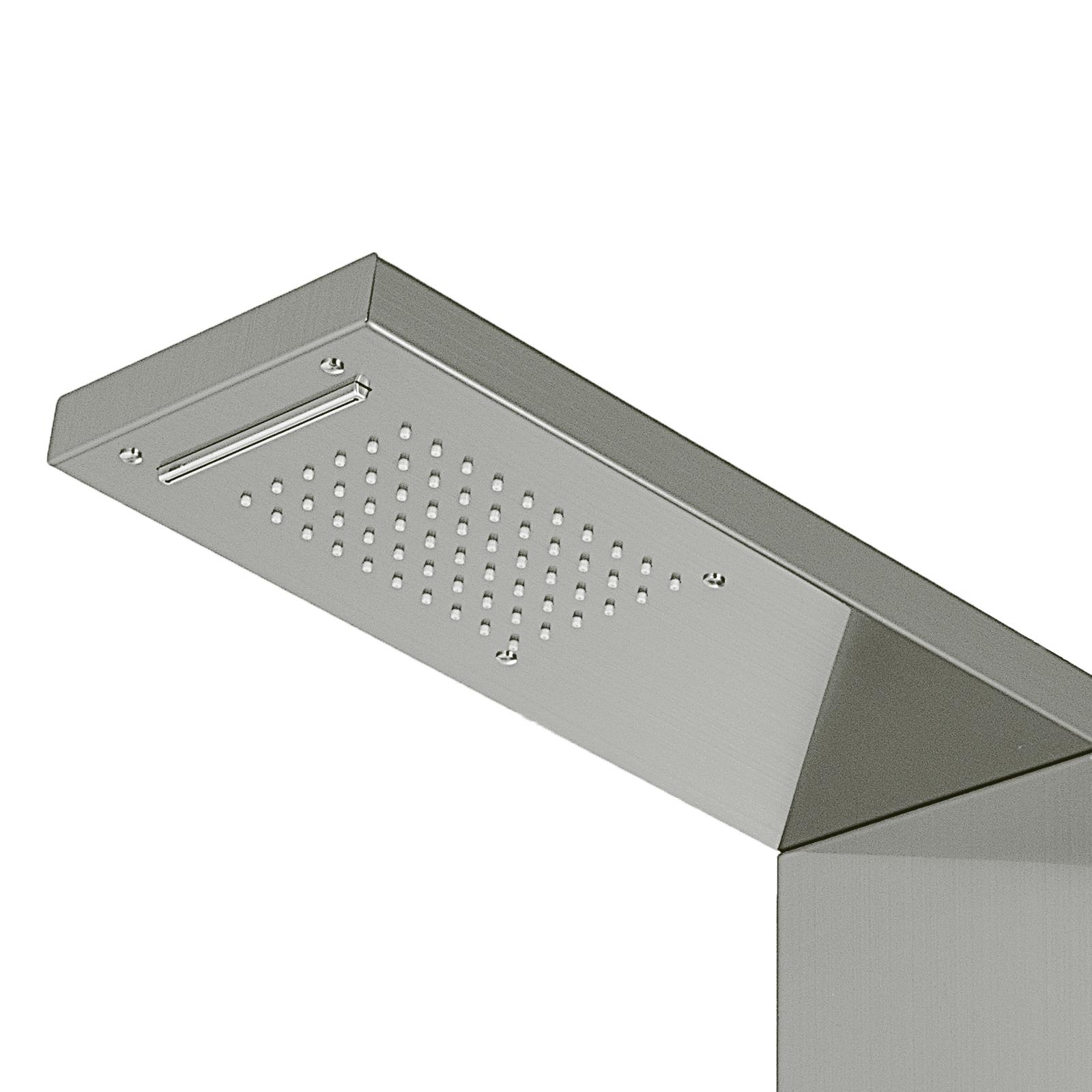 Pannello-doccia-idromassaggio-colonna-in-acciaio-inossidabile-con-miscelatore miniatura 80