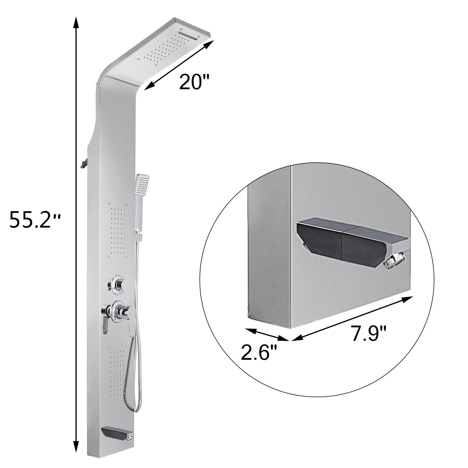 Pannello-doccia-idromassaggio-colonna-in-acciaio-inossidabile-con-miscelatore miniatura 26