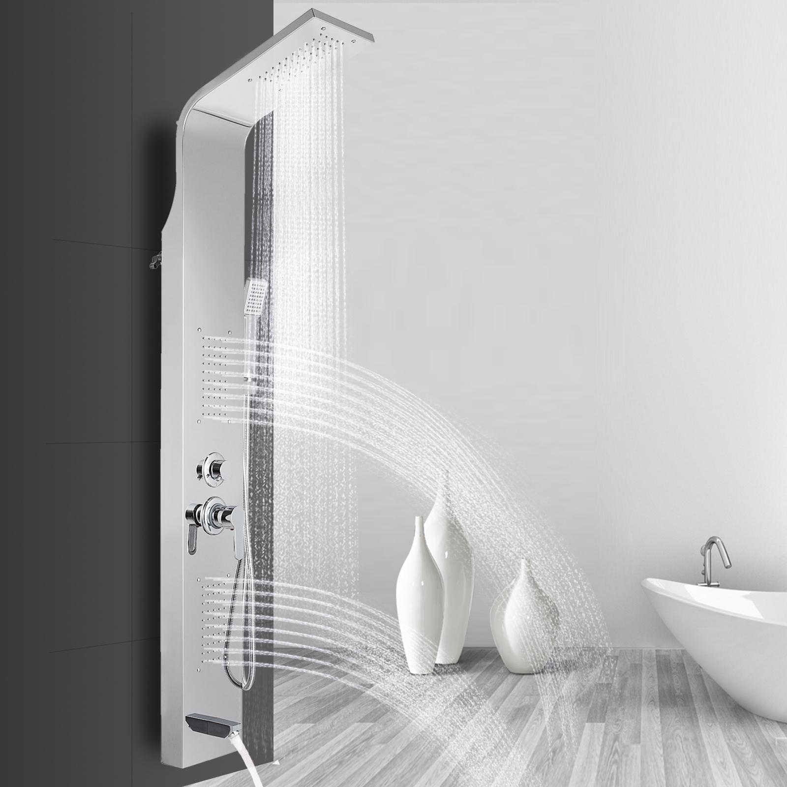 Pannello-doccia-idromassaggio-colonna-in-acciaio-inossidabile-con-miscelatore miniatura 30