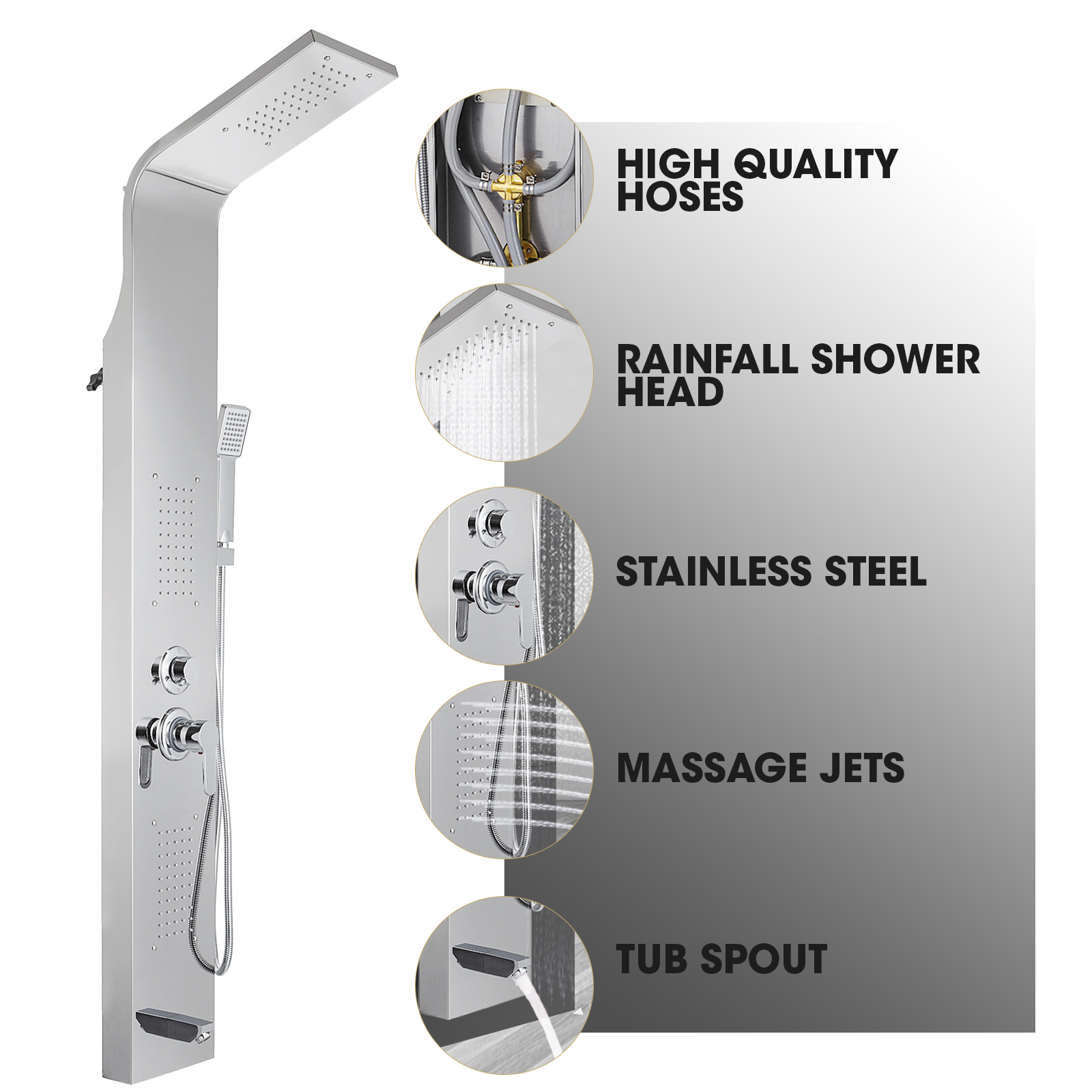 Pannello-doccia-idromassaggio-colonna-in-acciaio-inossidabile-con-miscelatore miniatura 31