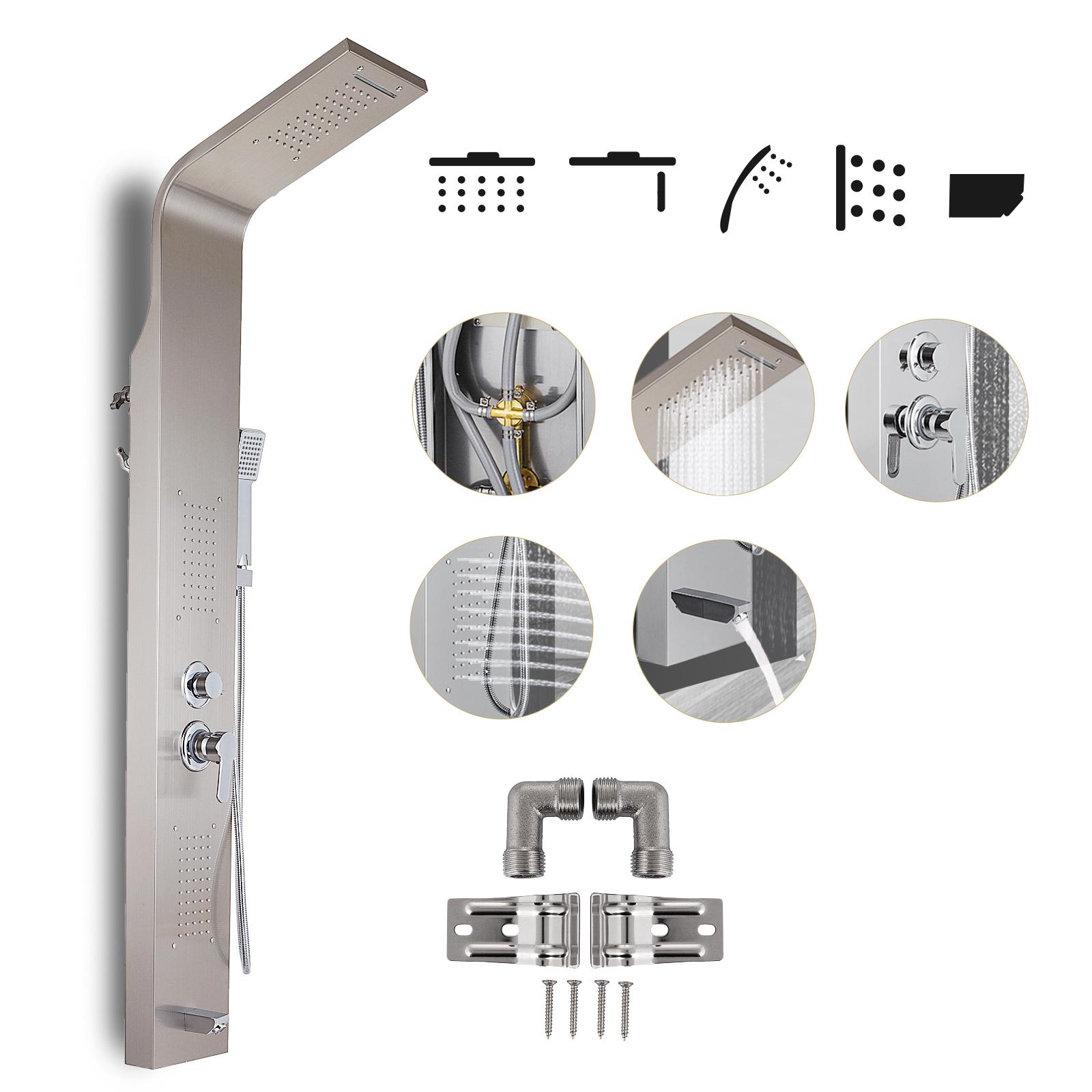 Pannello-doccia-idromassaggio-colonna-in-acciaio-inossidabile-con-miscelatore miniatura 48