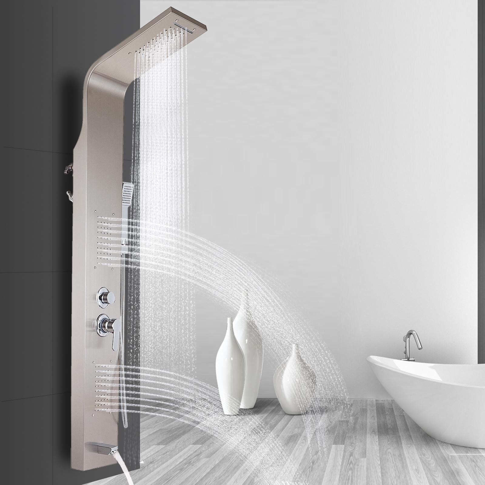 Pannello-doccia-idromassaggio-colonna-in-acciaio-inossidabile-con-miscelatore miniatura 42