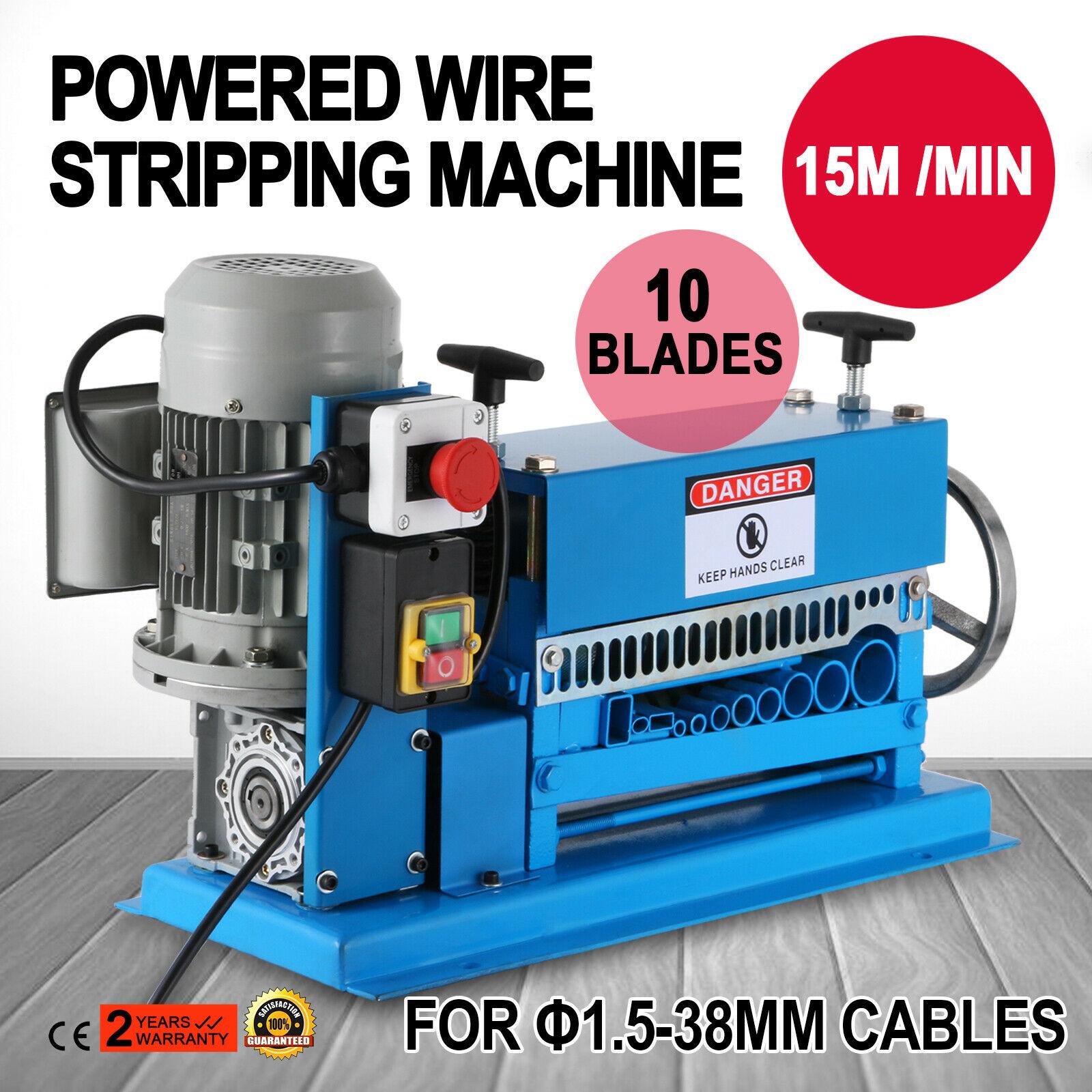 370W Powered Electric Wire Stripping Machine 10 Blades Copper ...