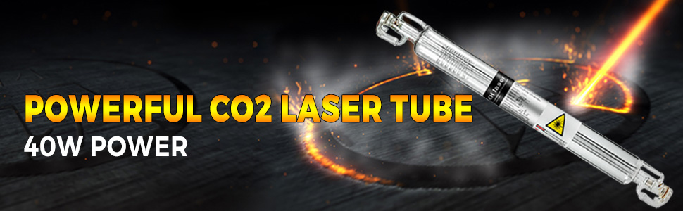 VEVOR Laser Tube 130W CO2 Laser Tube 1630mm Glass Laser Tube Professional Special Coating Technology Tube Laser Cutting Tube for Laser Engraving Machine and Cutting Machine