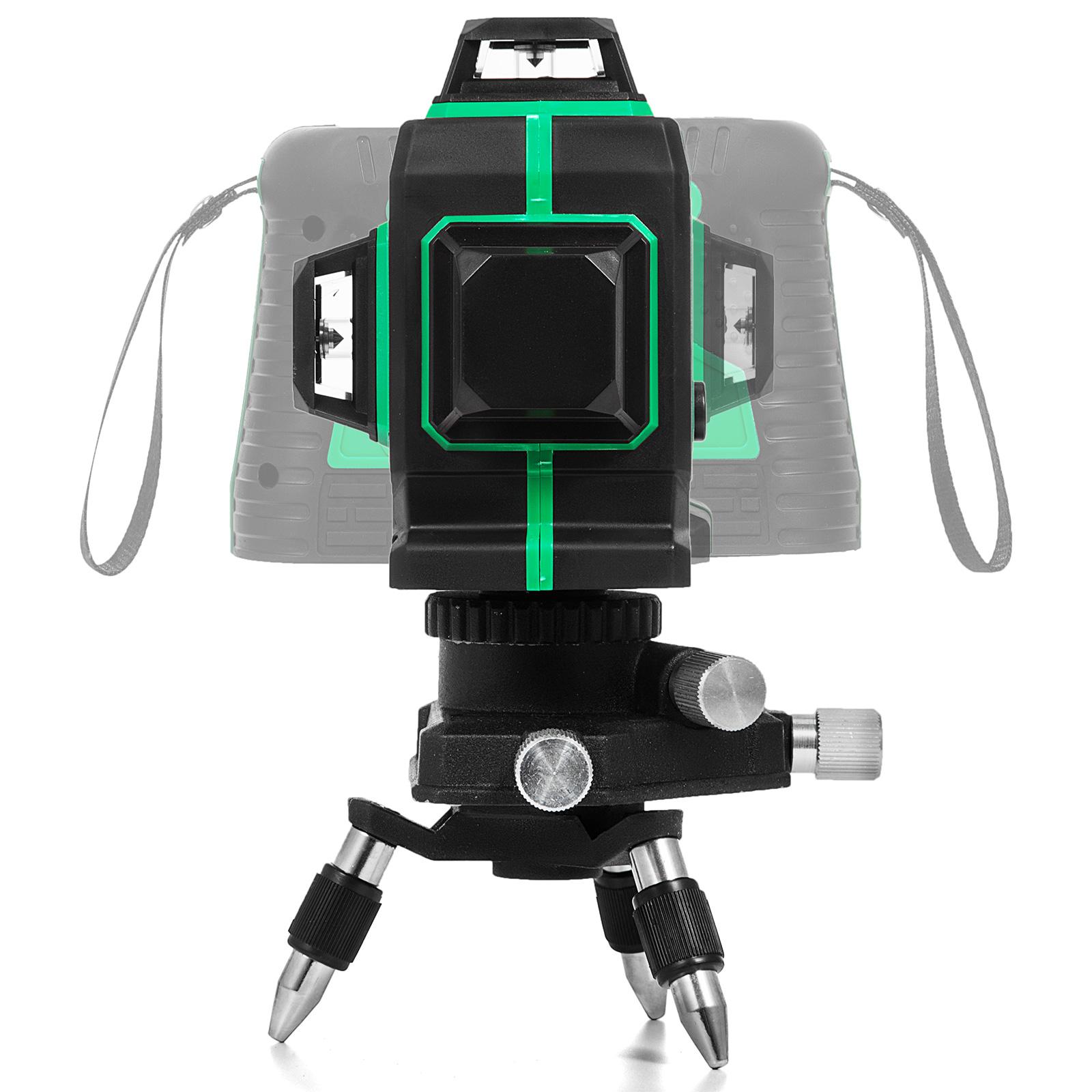 3D Niveau Laser Rotatif 360° Vert Intérieur Pente ajustable Précis Autonivelant
