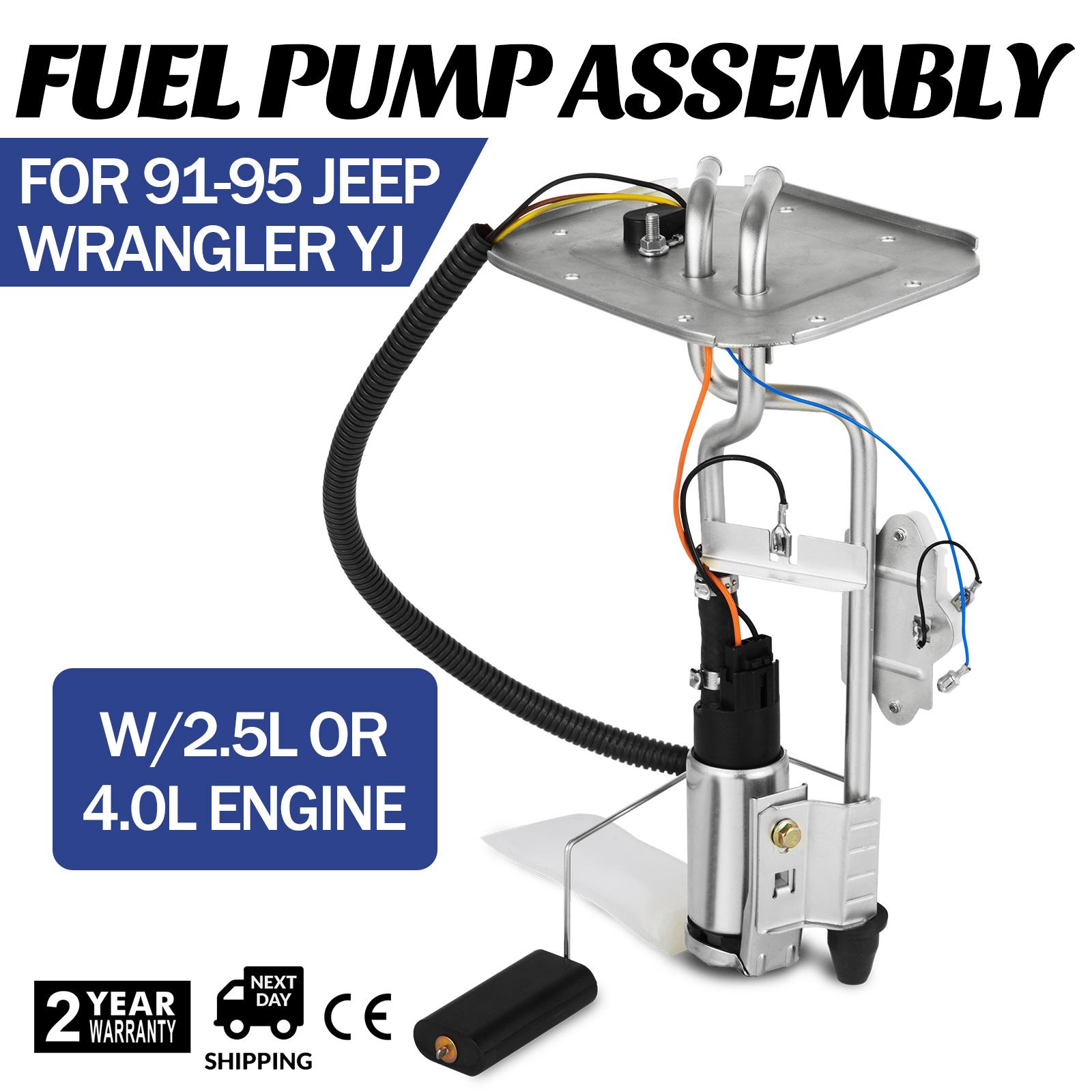 Fuel Pump Sending Unit for Jeep Wrangler 91 95 YJ 20 Gallon 2.5L 4.0L 92 93 94