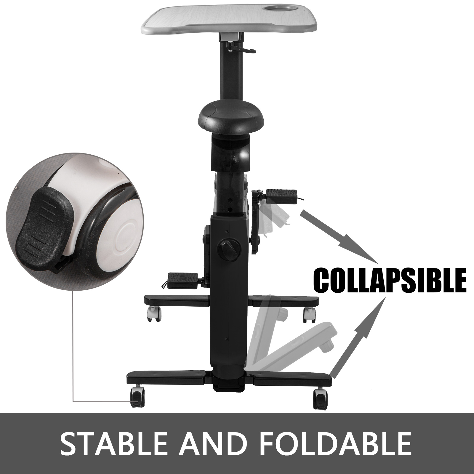 Multi-style-Magnetic-Exercise-Bike-office-Bicycle-under-Desk-Fitness-Cardio miniature 18