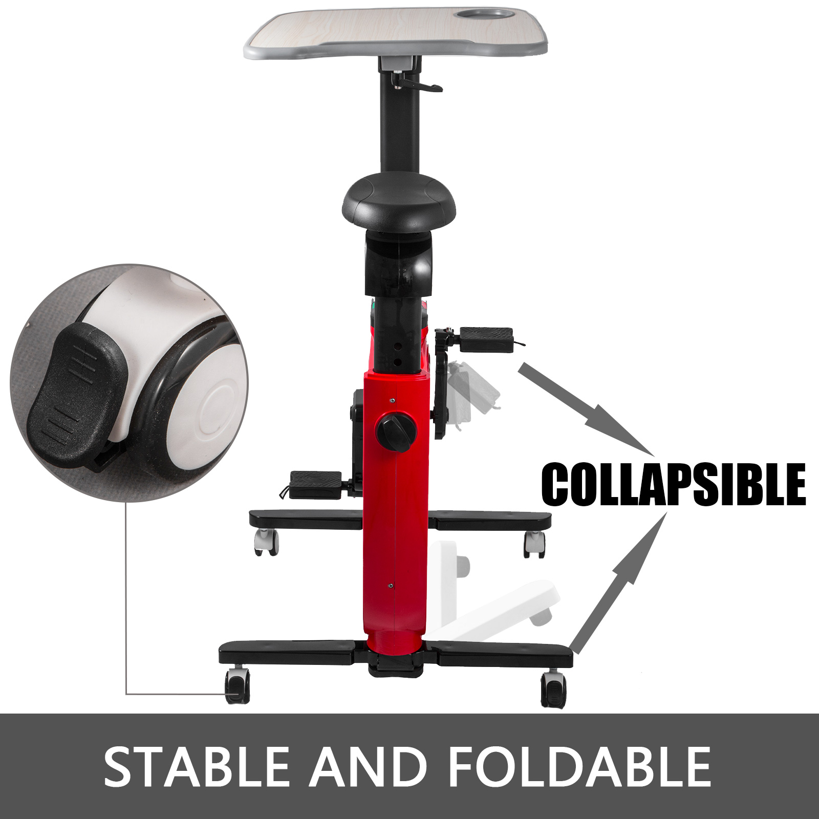 Multi-style-Magnetic-Exercise-Bike-office-Bicycle-under-Desk-Fitness-Cardio miniature 30