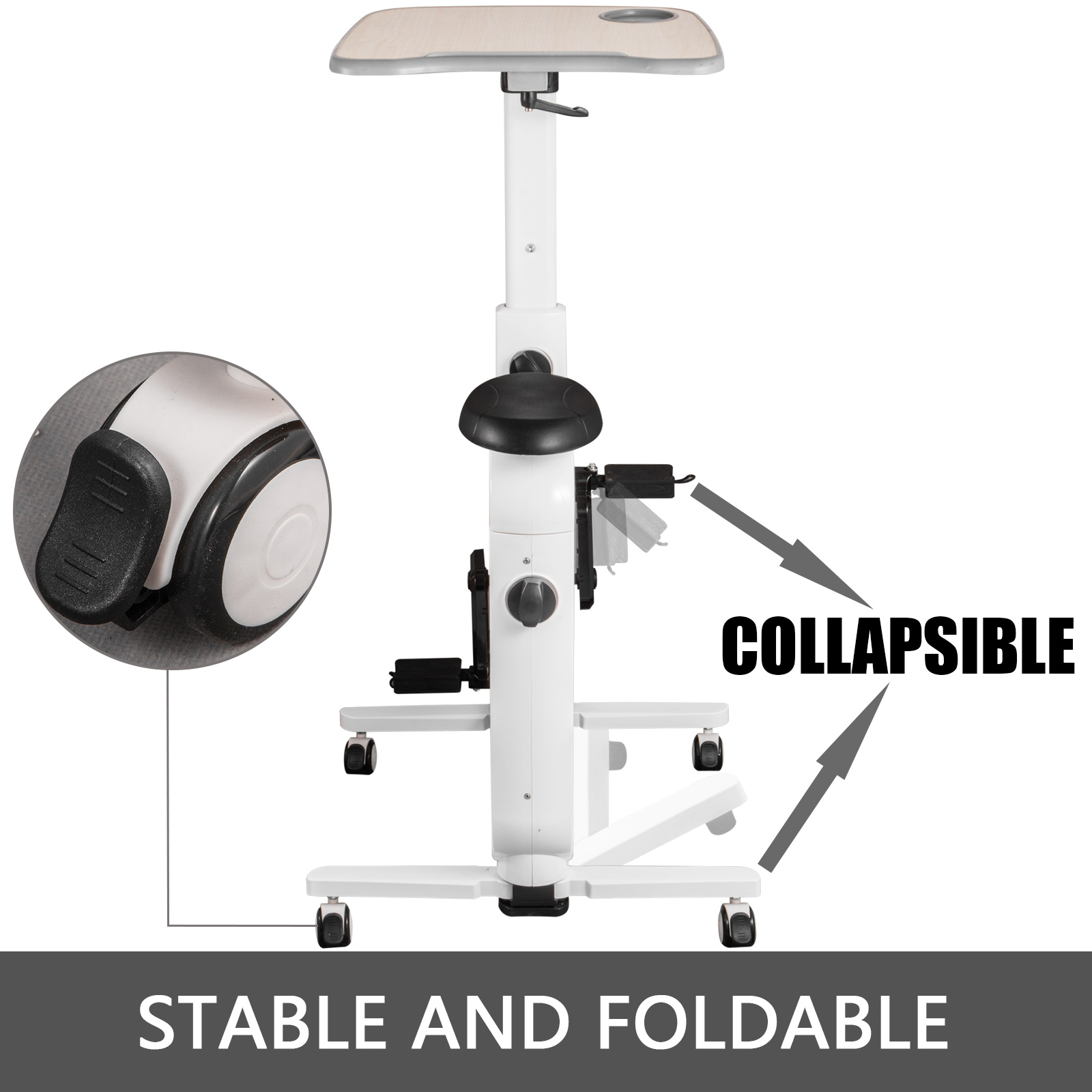 Multi-style-Magnetic-Exercise-Bike-office-Bicycle-under-Desk-Fitness-Cardio miniature 42