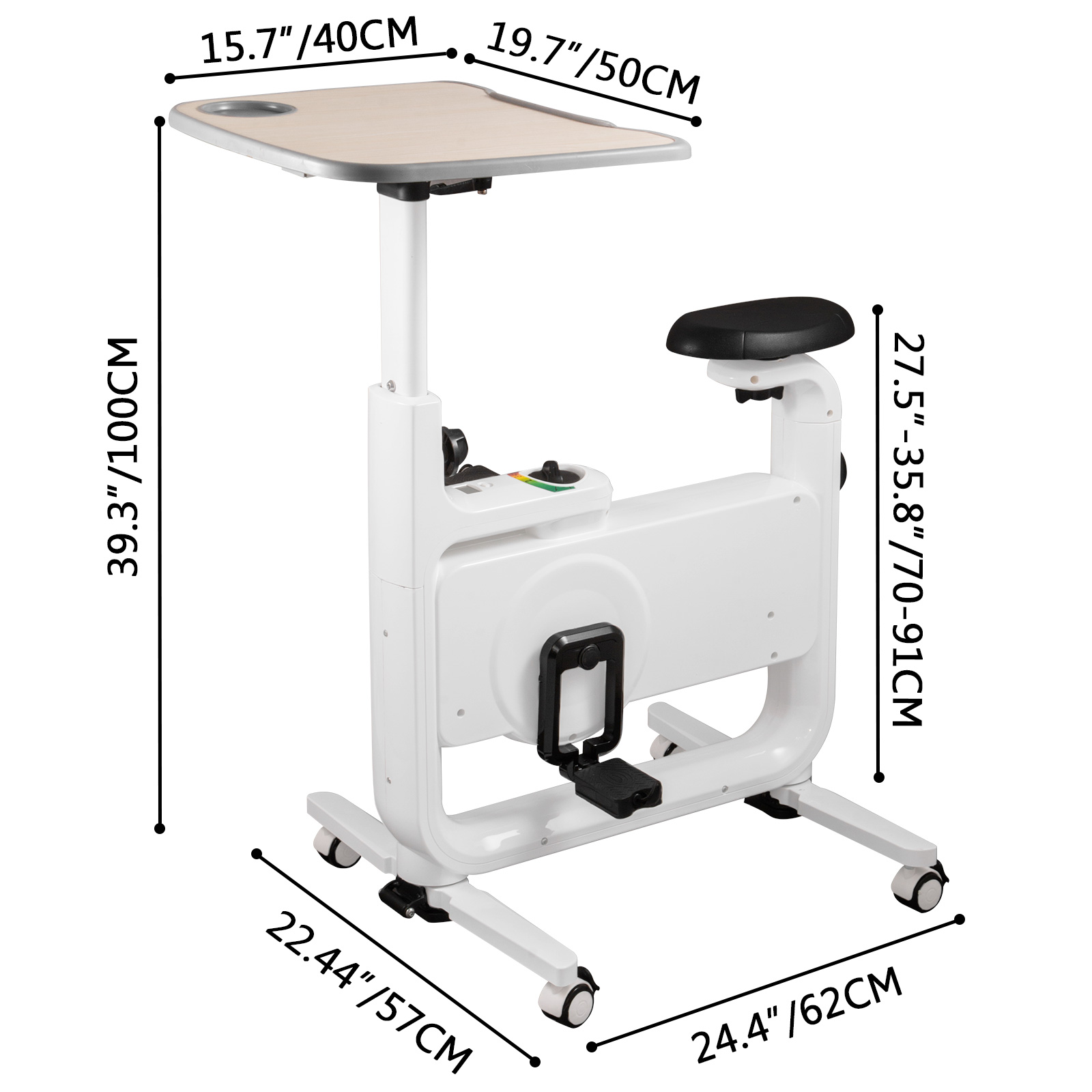 Multi-style-Magnetic-Exercise-Bike-office-Bicycle-under-Desk-Fitness-Cardio miniature 44