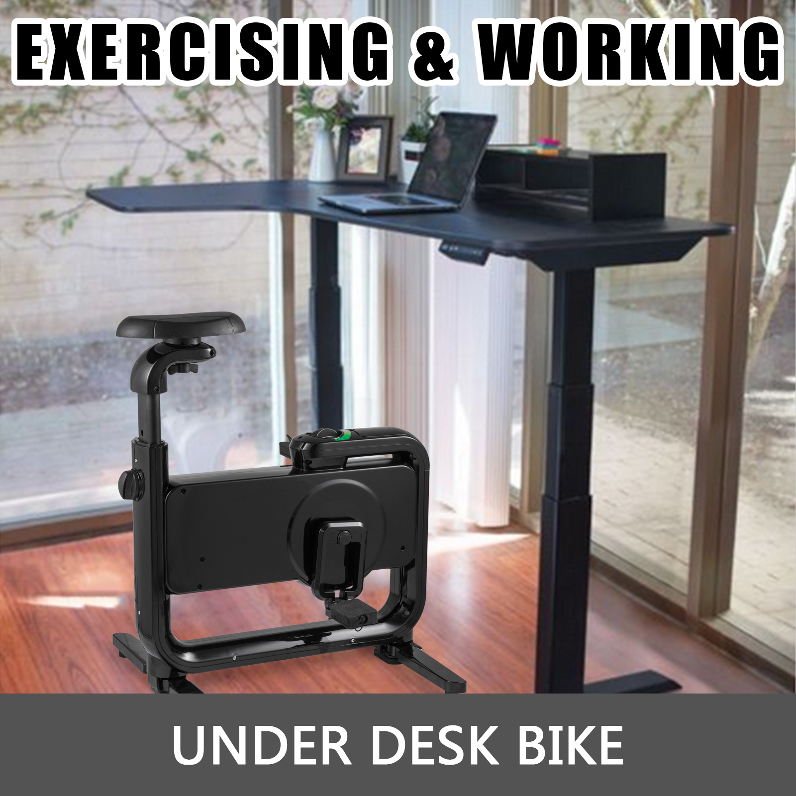 Multi-style-Magnetic-Exercise-Bike-office-Bicycle-under-Desk-Fitness-Cardio miniature 55