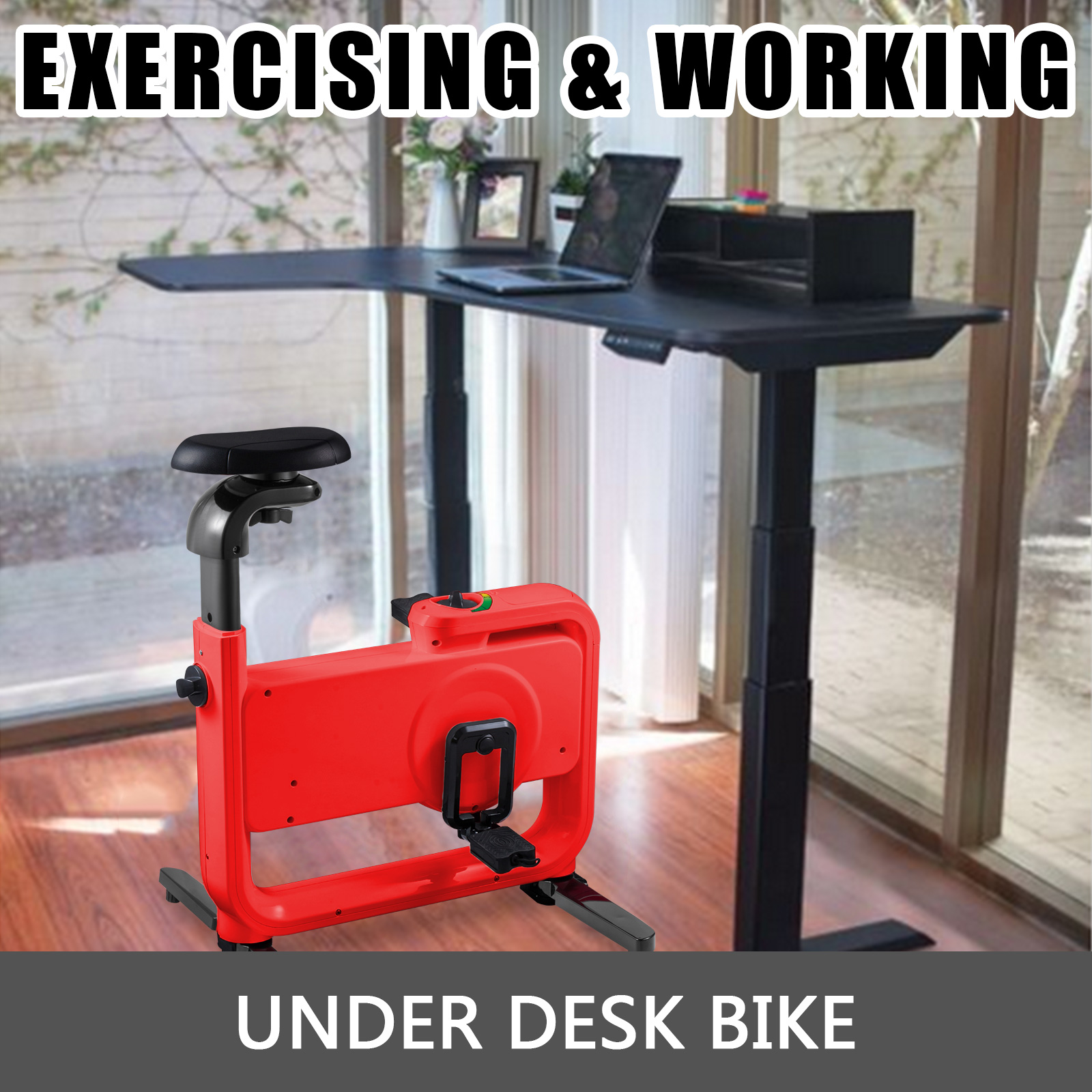 Multi-style-Magnetic-Exercise-Bike-office-Bicycle-under-Desk-Fitness-Cardio miniature 67