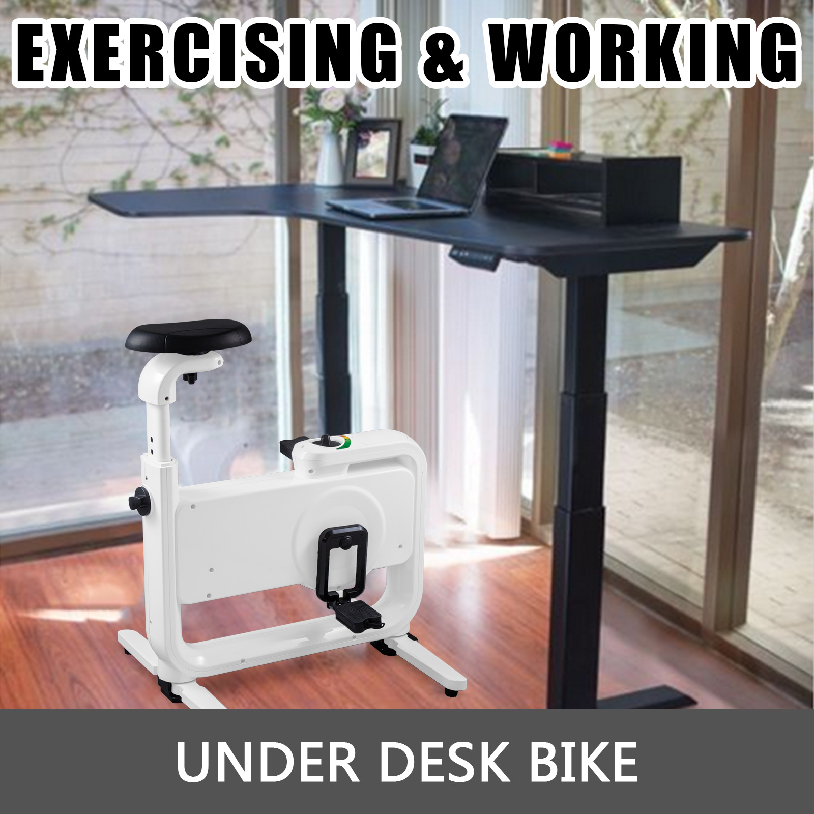 Multi-style-Magnetic-Exercise-Bike-office-Bicycle-under-Desk-Fitness-Cardio miniature 79