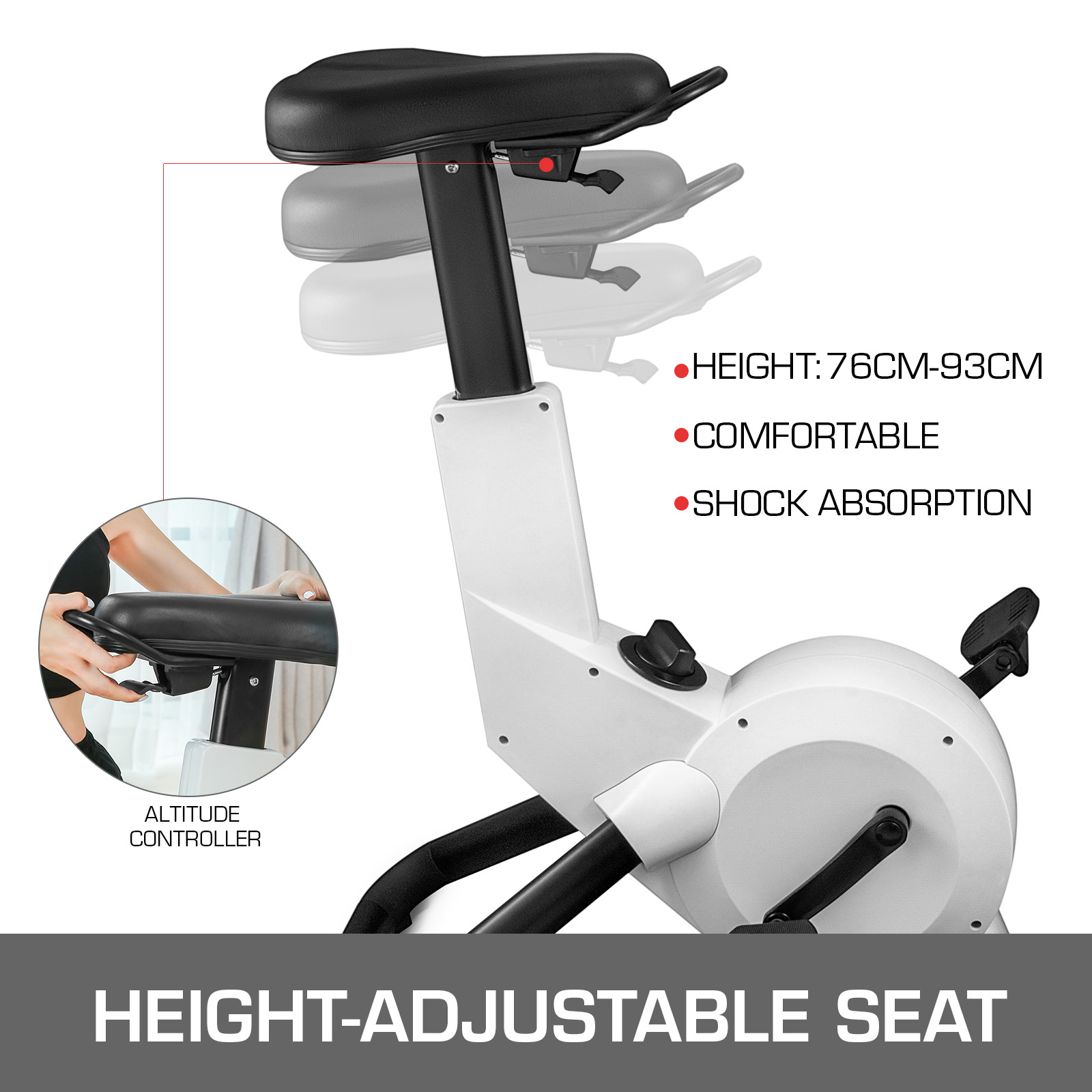 Multi-style-Magnetic-Exercise-Bike-office-Bicycle-under-Desk-Fitness-Cardio miniature 86
