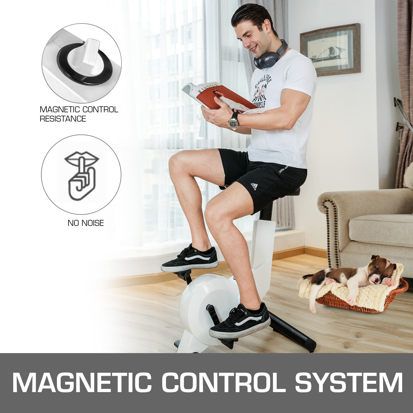 Multi-style-Magnetic-Exercise-Bike-office-Bicycle-under-Desk-Fitness-Cardio miniature 87