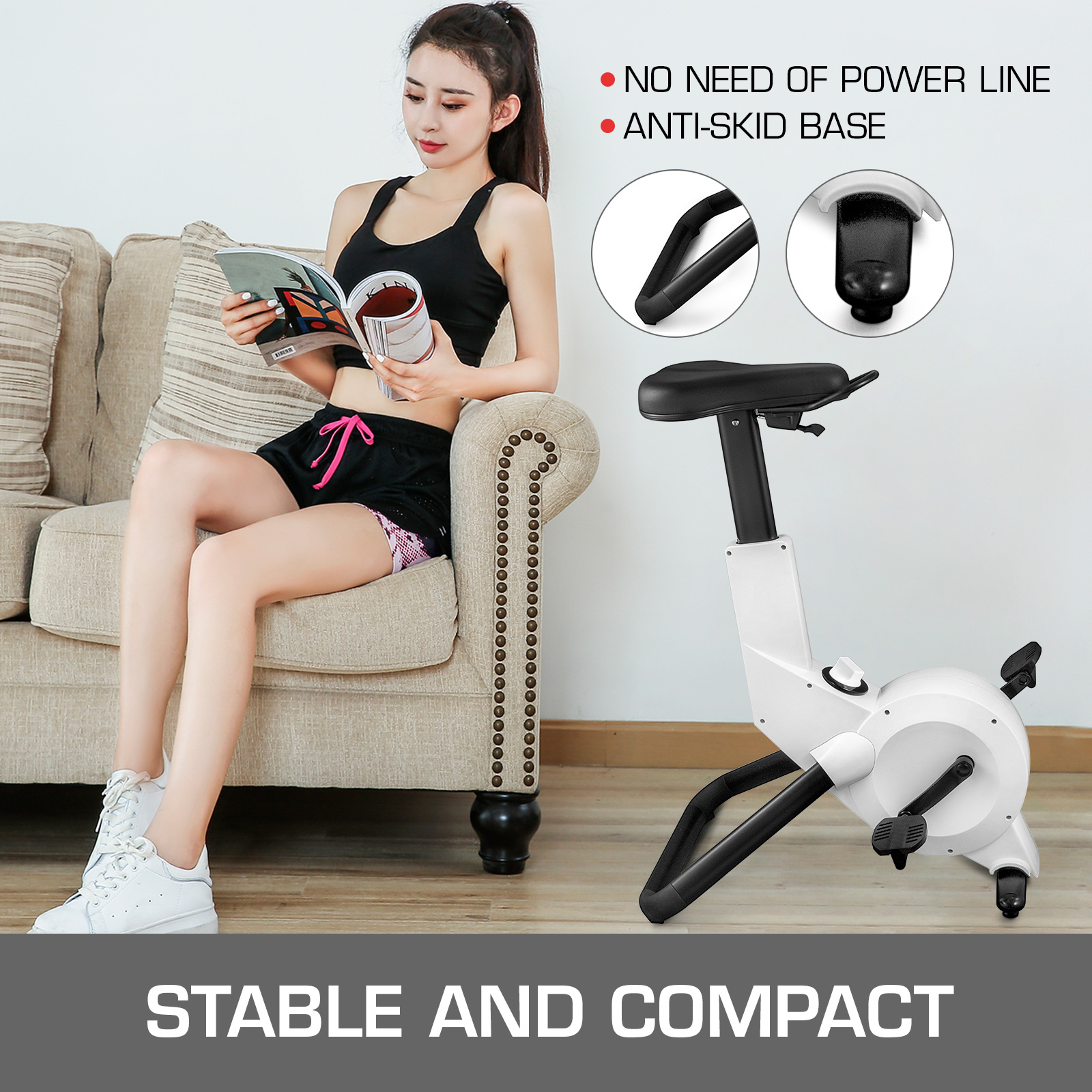 Multi-style-Magnetic-Exercise-Bike-office-Bicycle-under-Desk-Fitness-Cardio miniature 89