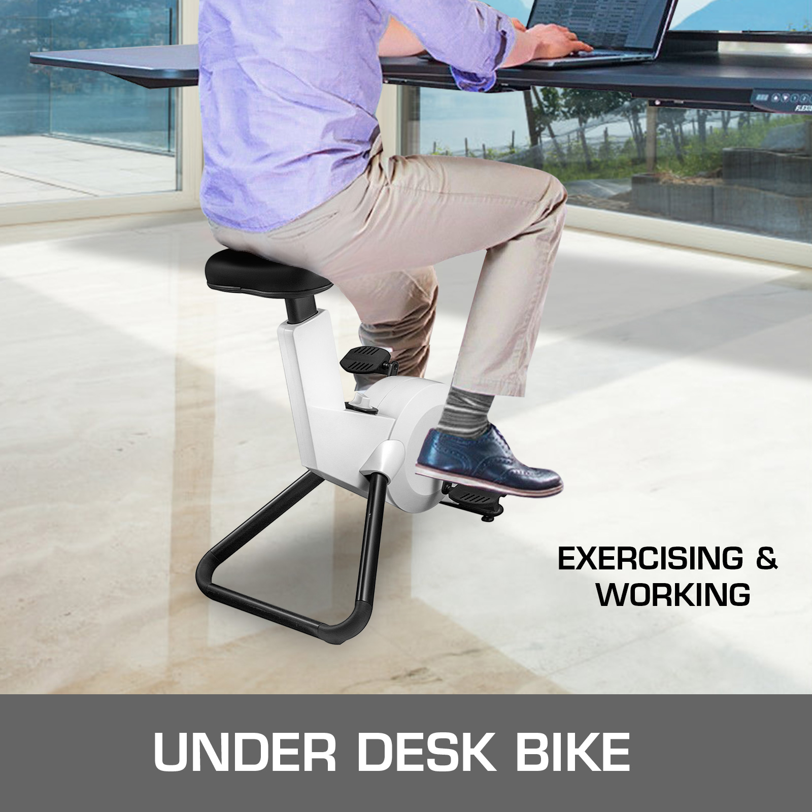 Multi-style-Magnetic-Exercise-Bike-office-Bicycle-under-Desk-Fitness-Cardio miniature 91