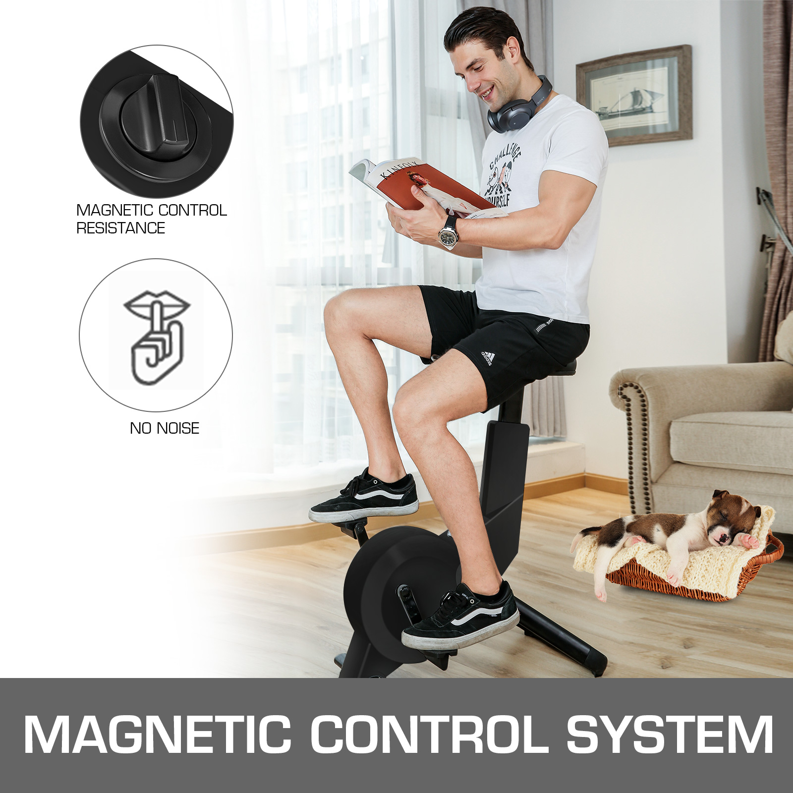 Multi-style-Magnetic-Exercise-Bike-office-Bicycle-under-Desk-Fitness-Cardio miniature 99