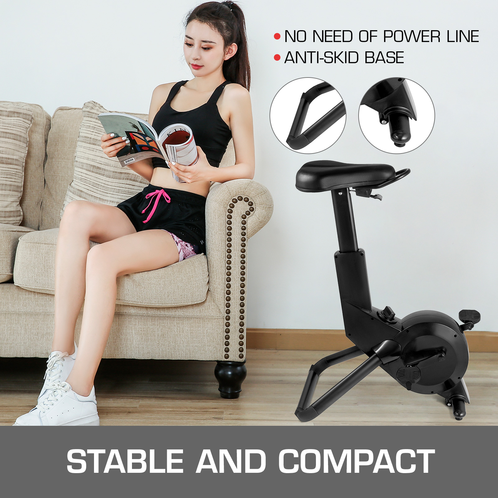 Multi-style-Magnetic-Exercise-Bike-office-Bicycle-under-Desk-Fitness-Cardio miniature 101