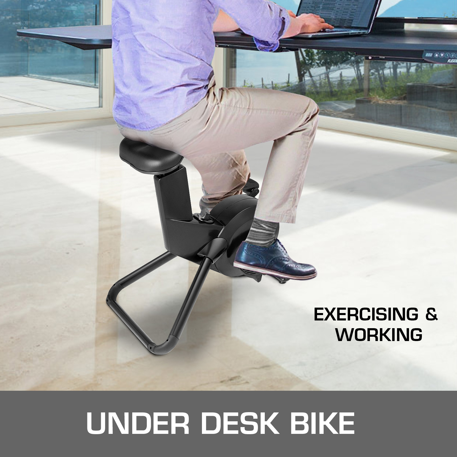 Multi-style-Magnetic-Exercise-Bike-office-Bicycle-under-Desk-Fitness-Cardio miniature 103