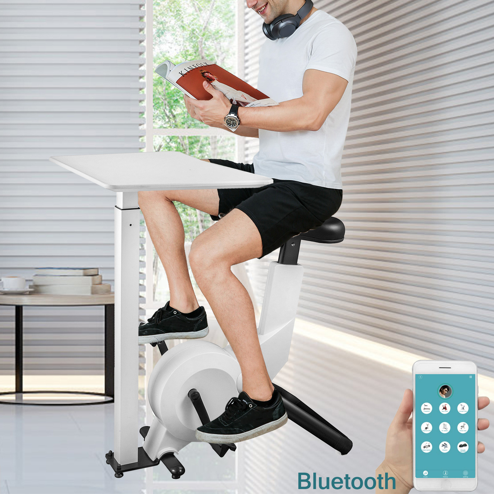 Multi-style-Magnetic-Exercise-Bike-office-Bicycle-under-Desk-Fitness-Cardio miniature 109