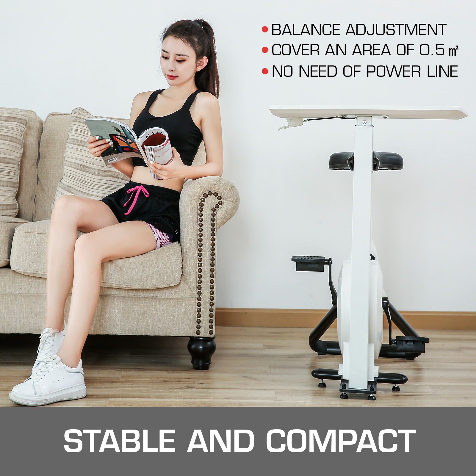 Multi-style-Magnetic-Exercise-Bike-office-Bicycle-under-Desk-Fitness-Cardio miniature 113