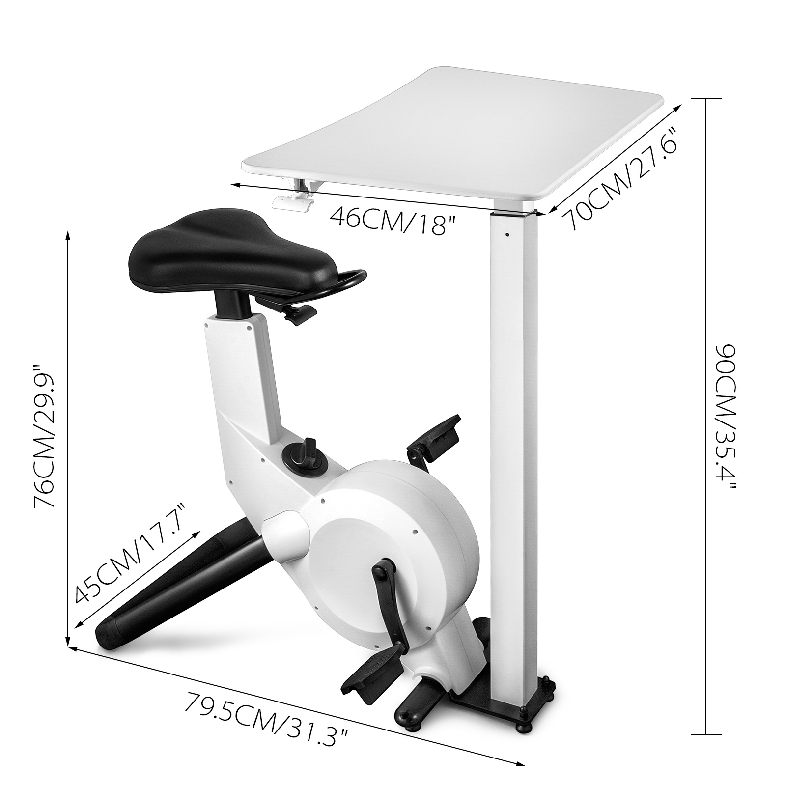 Multi-style-Magnetic-Exercise-Bike-office-Bicycle-under-Desk-Fitness-Cardio miniature 116