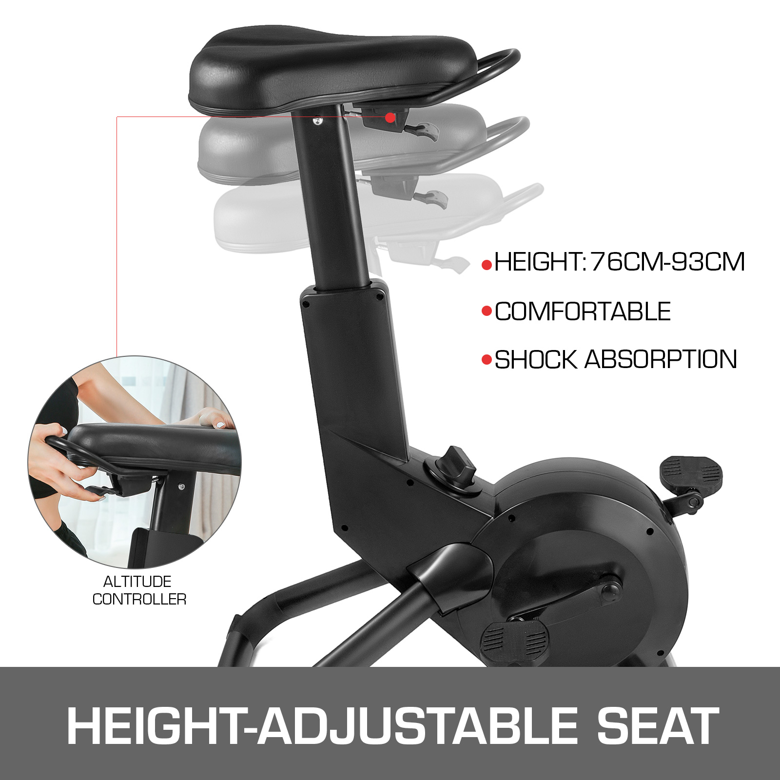 Multi-style-Magnetic-Exercise-Bike-office-Bicycle-under-Desk-Fitness-Cardio miniature 123