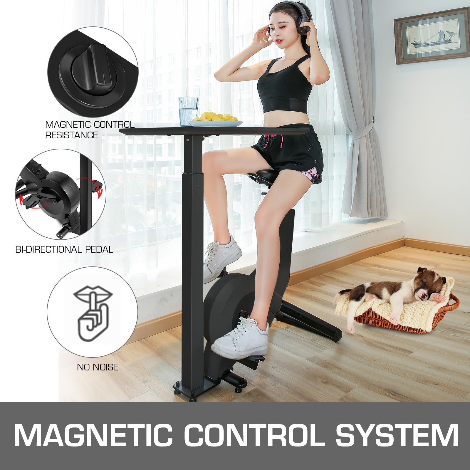 Multi-style-Magnetic-Exercise-Bike-office-Bicycle-under-Desk-Fitness-Cardio miniature 124
