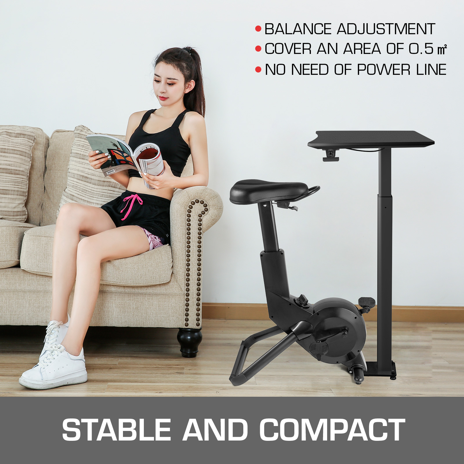 Multi-style-Magnetic-Exercise-Bike-office-Bicycle-under-Desk-Fitness-Cardio miniature 125