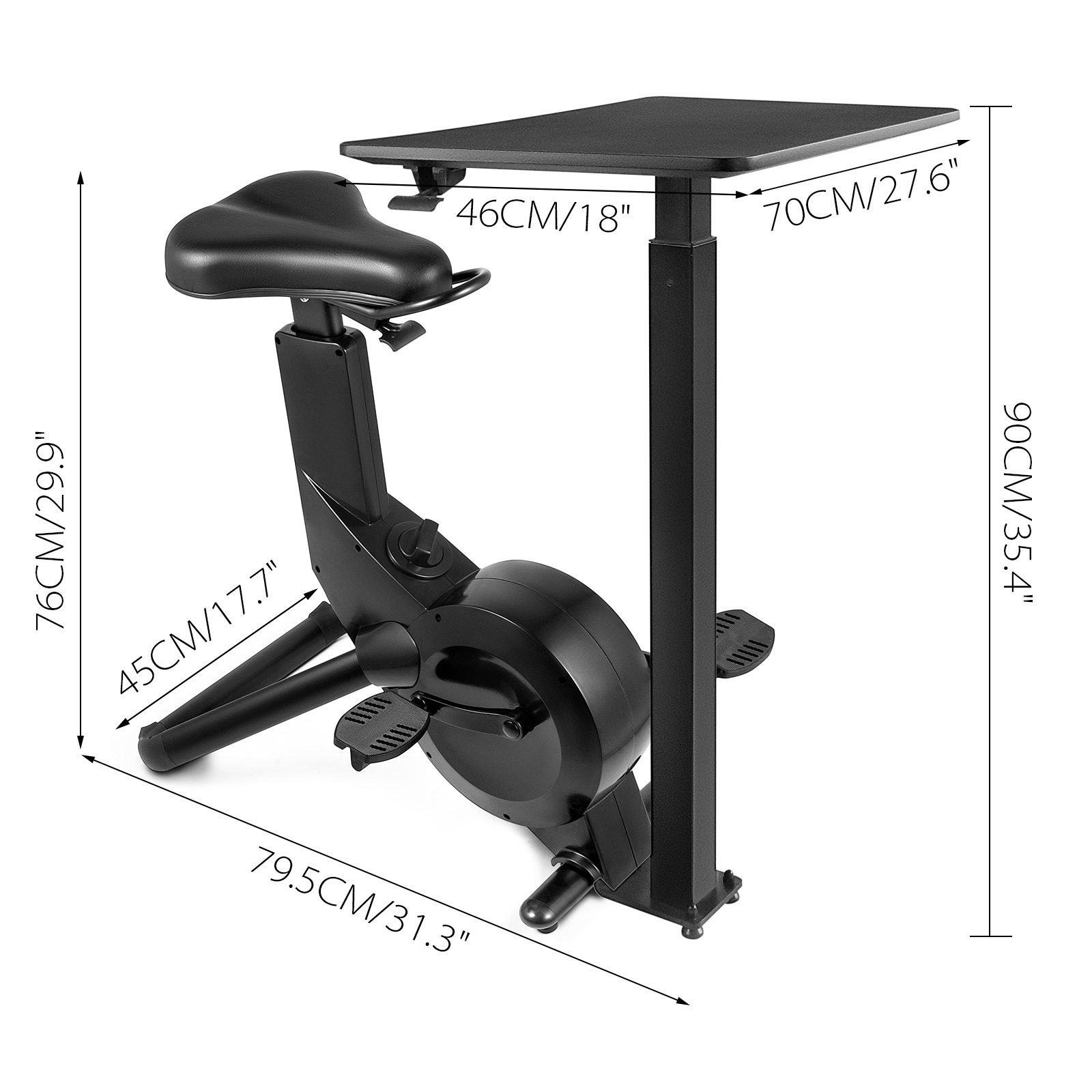 Multi-style-Magnetic-Exercise-Bike-office-Bicycle-under-Desk-Fitness-Cardio miniature 128