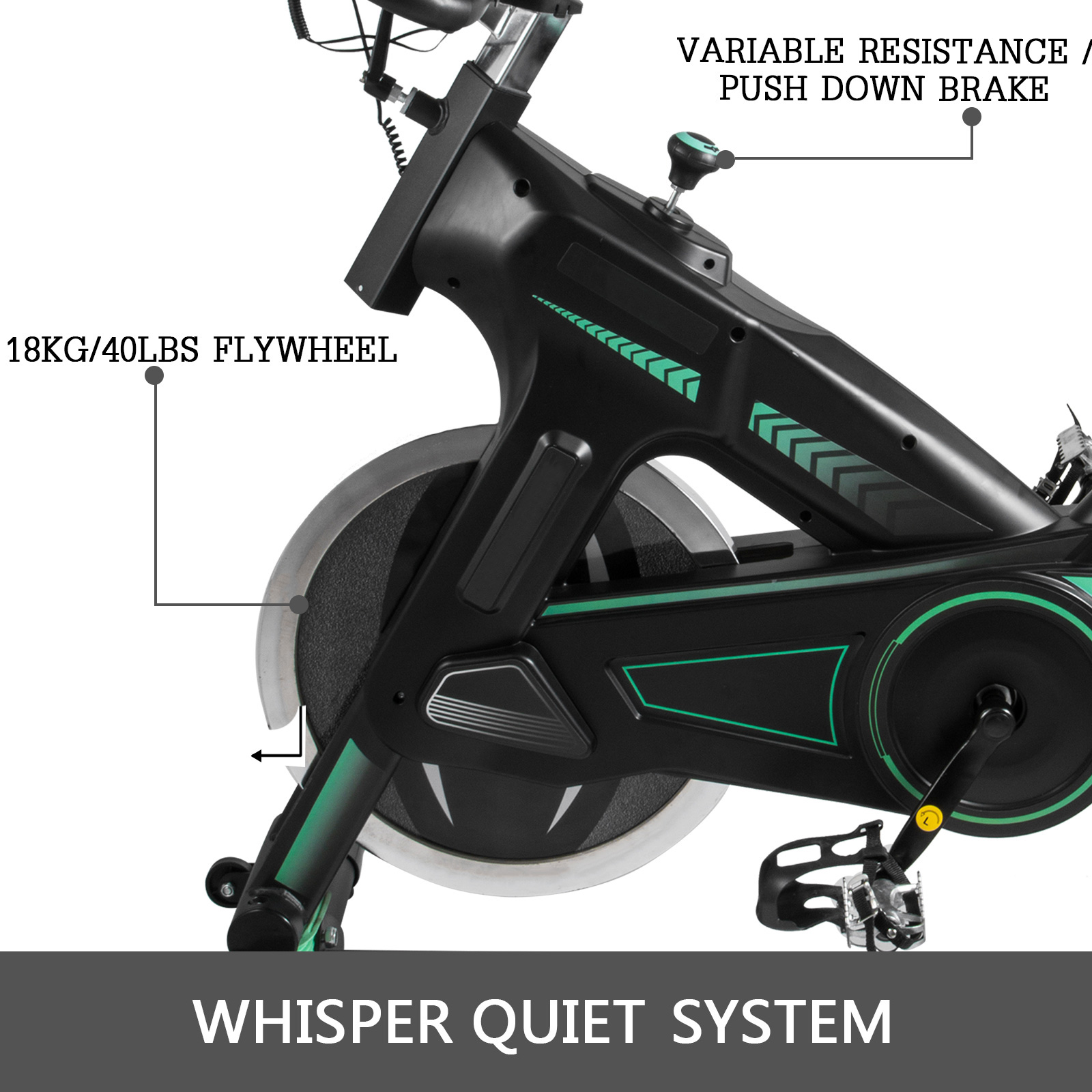 Multi-style-Magnetic-Exercise-Bike-office-Bicycle-under-Desk-Fitness-Cardio miniature 135
