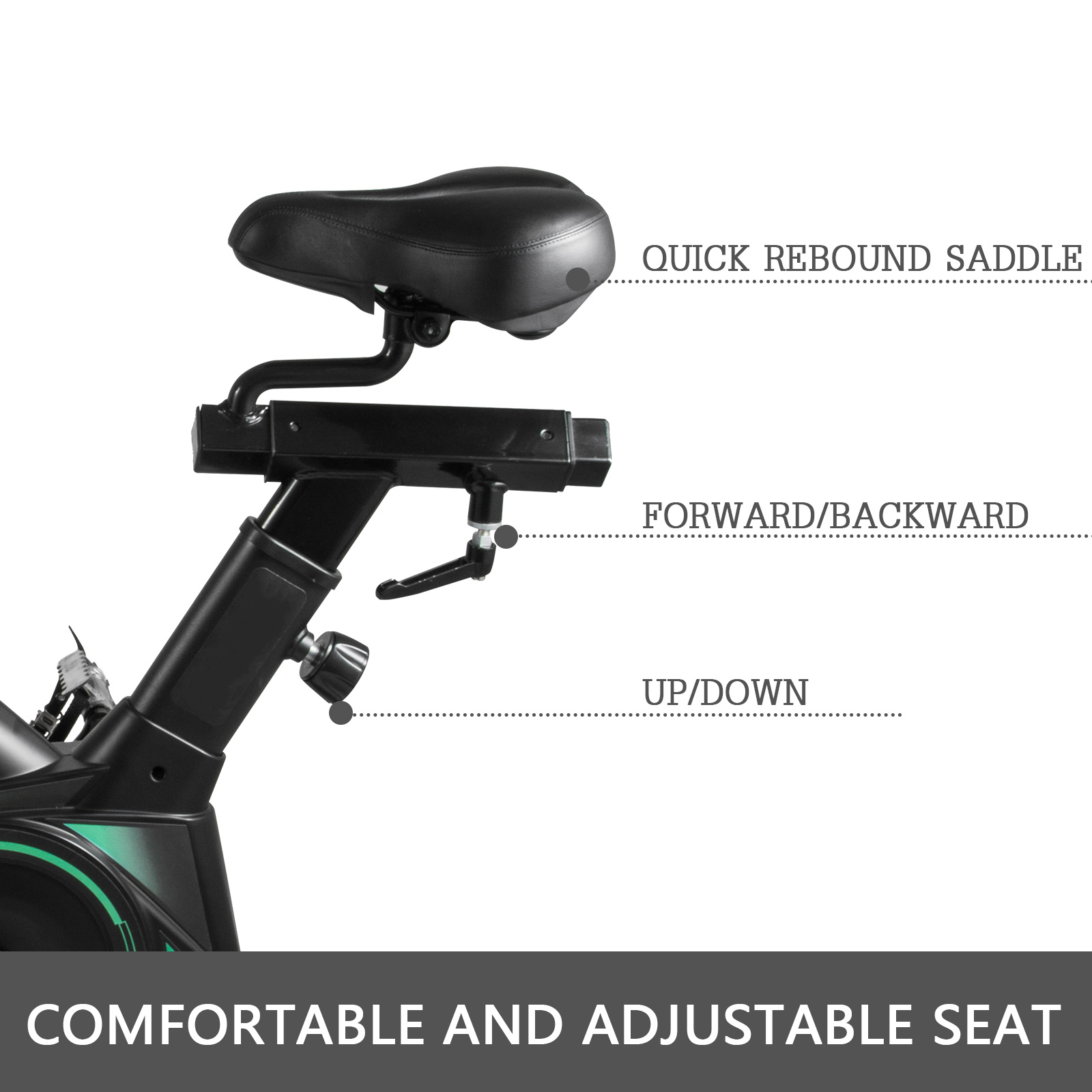Multi-style-Magnetic-Exercise-Bike-office-Bicycle-under-Desk-Fitness-Cardio miniature 137