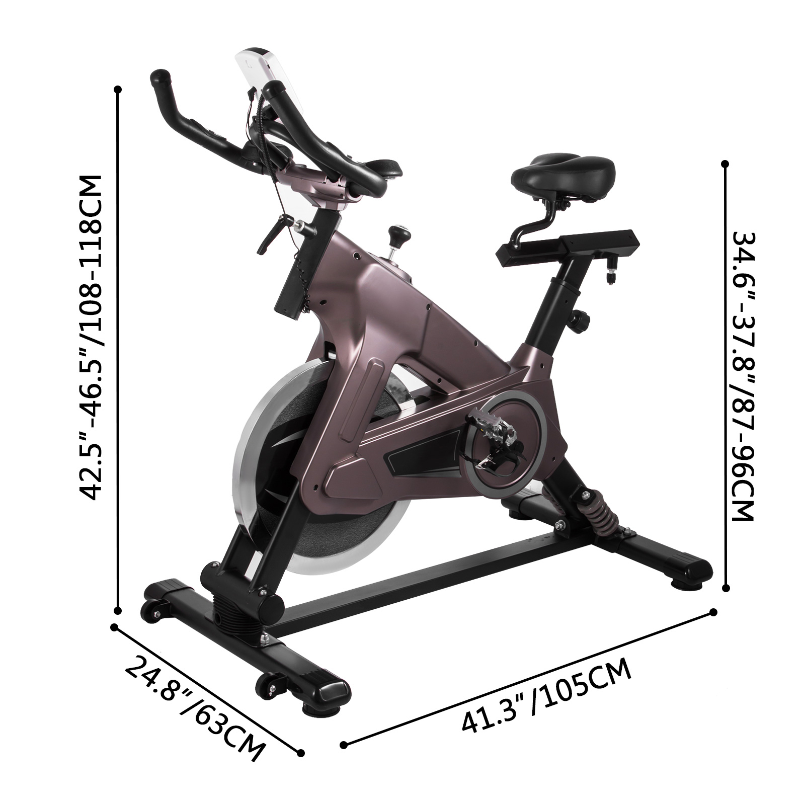 Multi-style-Magnetic-Exercise-Bike-office-Bicycle-under-Desk-Fitness-Cardio miniature 152