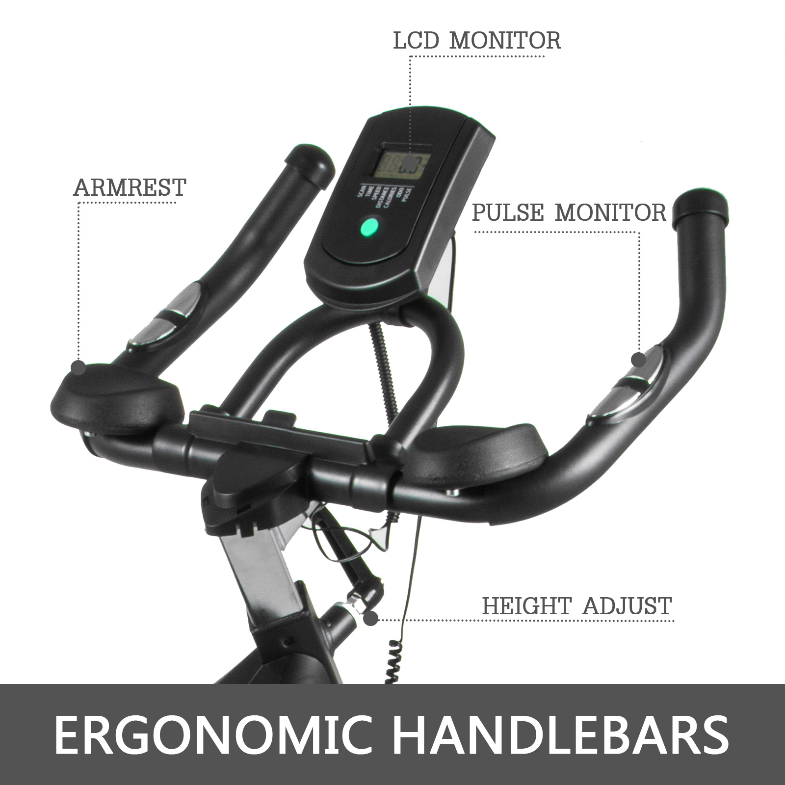 Multi-style-Magnetic-Exercise-Bike-office-Bicycle-under-Desk-Fitness-Cardio miniature 160