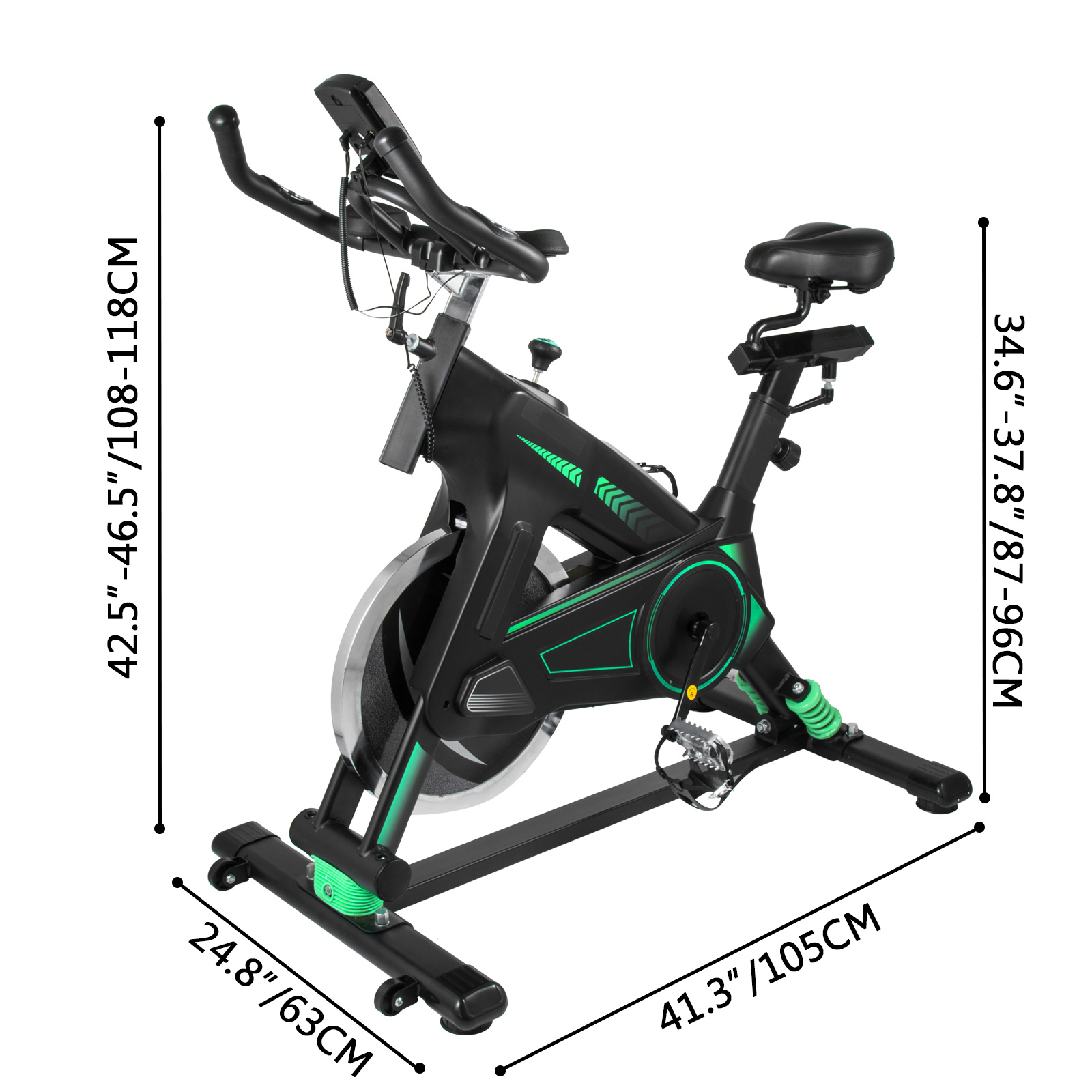 Multi-style-Magnetic-Exercise-Bike-office-Bicycle-under-Desk-Fitness-Cardio miniature 164