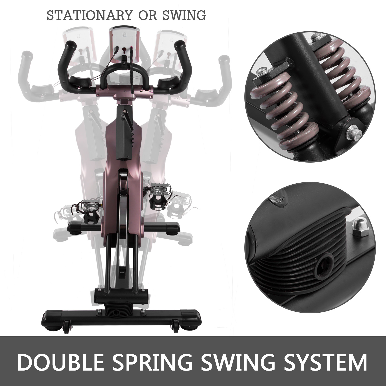Multi-style-Magnetic-Exercise-Bike-office-Bicycle-under-Desk-Fitness-Cardio miniature 170