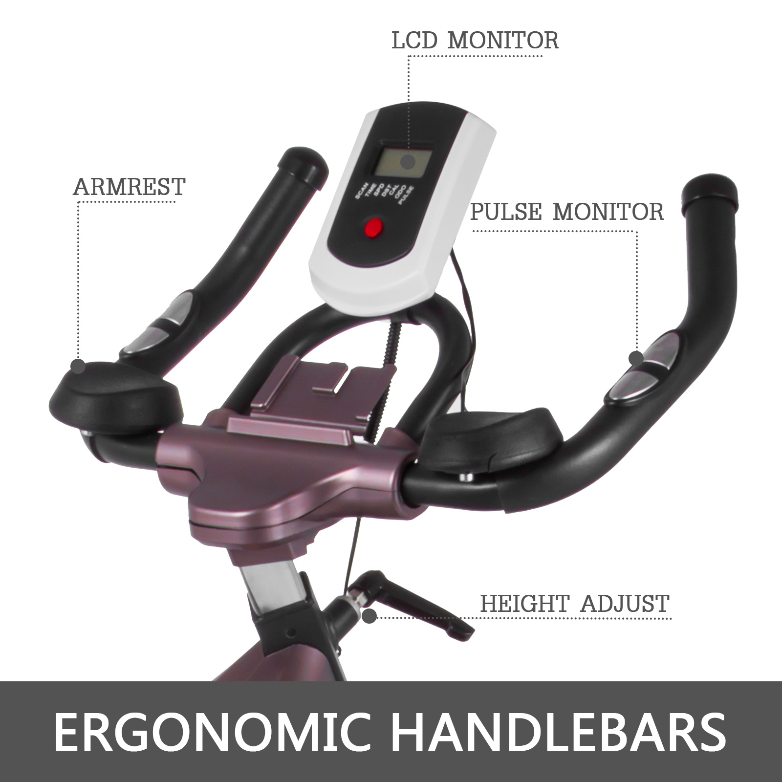 Multi-style-Magnetic-Exercise-Bike-office-Bicycle-under-Desk-Fitness-Cardio miniature 172