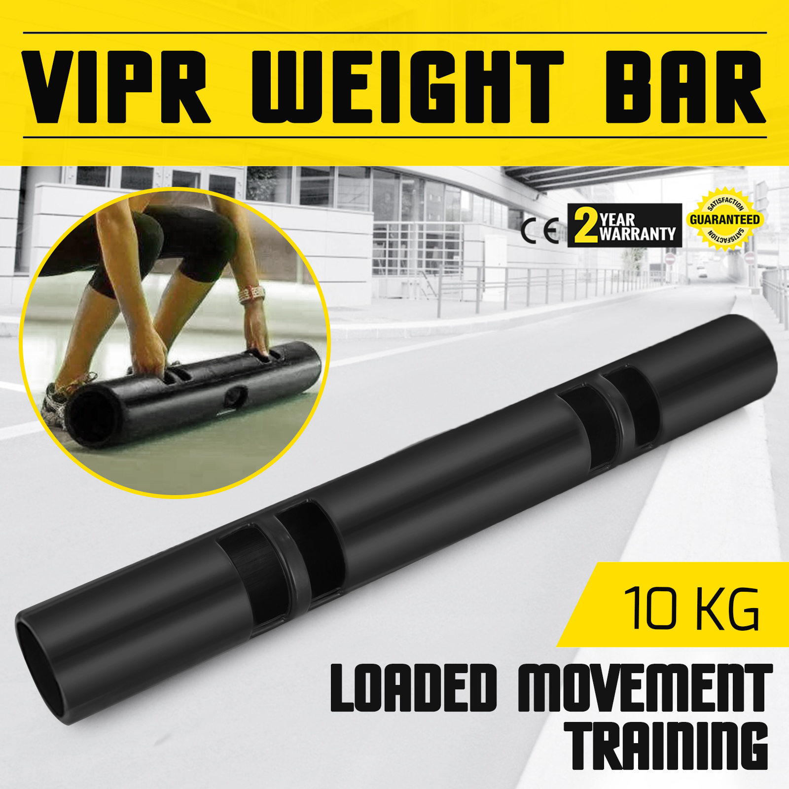 Vipr-Fitpro-Fitness-Tube-Loaded-Movement-Training-weightlifting-4-6-8-10-12-Kg thumbnail 49