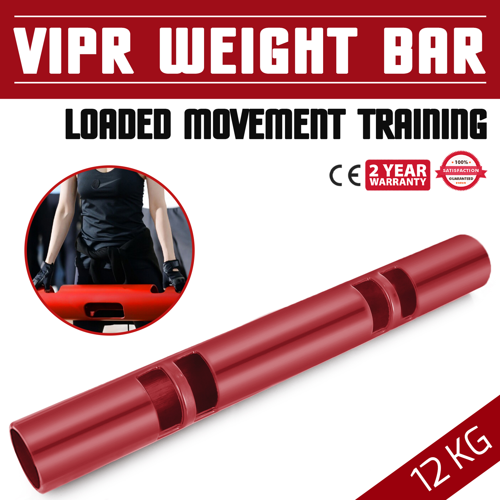 Vipr-Fitpro-Fitness-Tube-Loaded-Movement-Training-weightlifting-4-6-8-10-12-Kg thumbnail 61